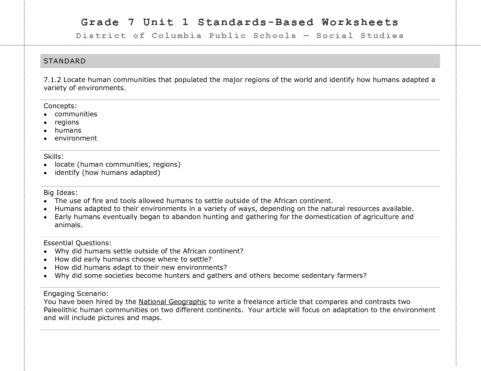 18 Best Images Of 7 Grade Social Stu S Worksheets