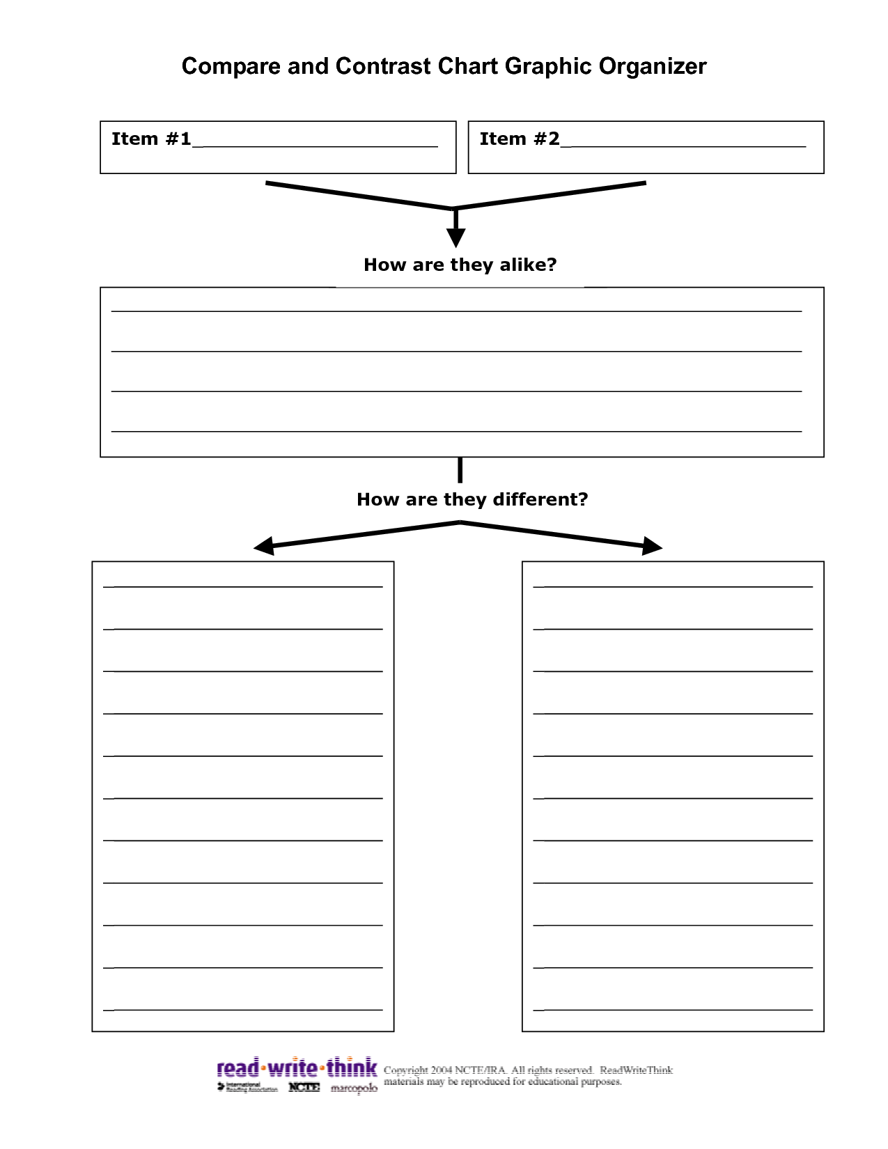 15 Best Images Of Blank Compare And Contrast Worksheets