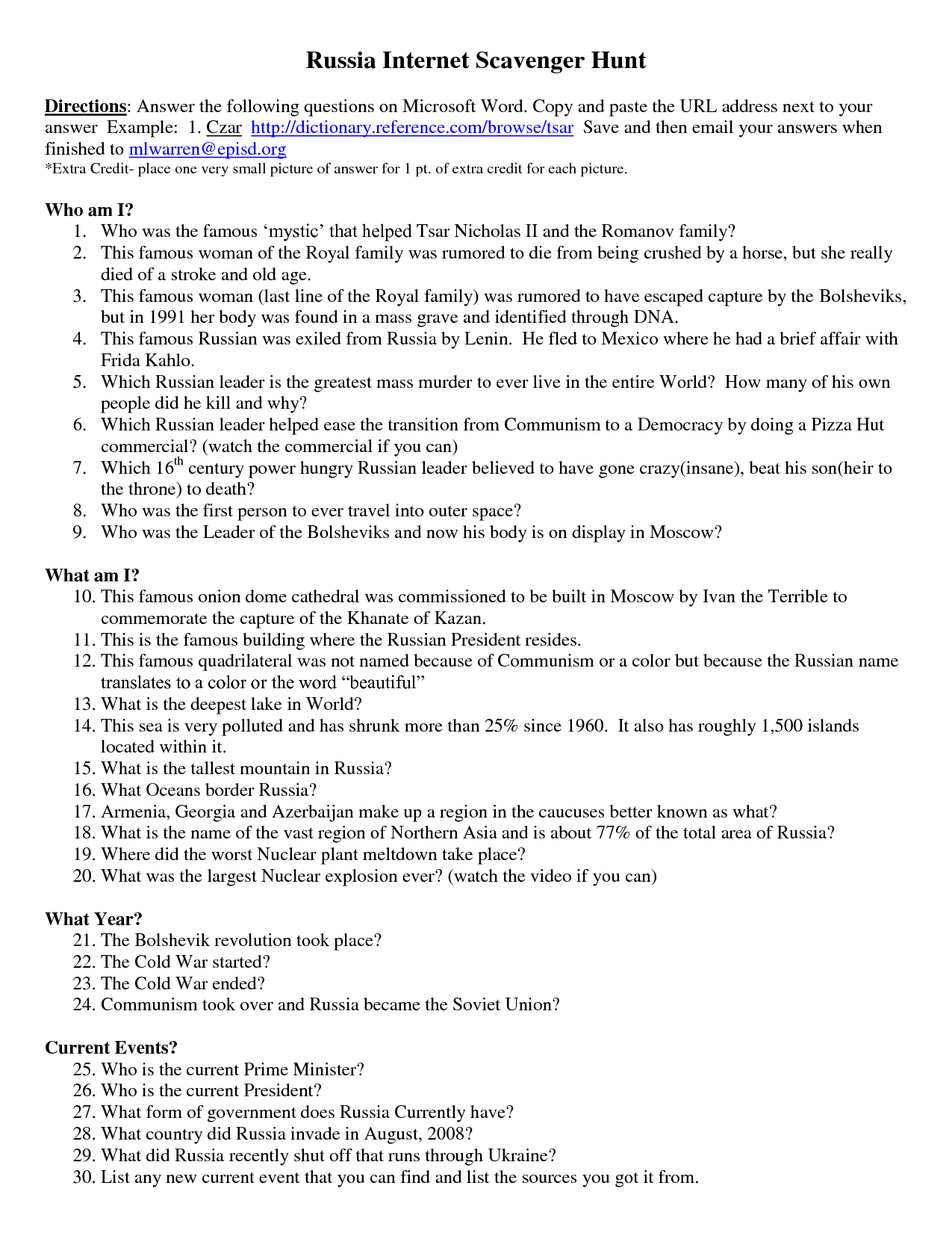 14 Best Images Of Constitution Scavenger Hunt Worksheet