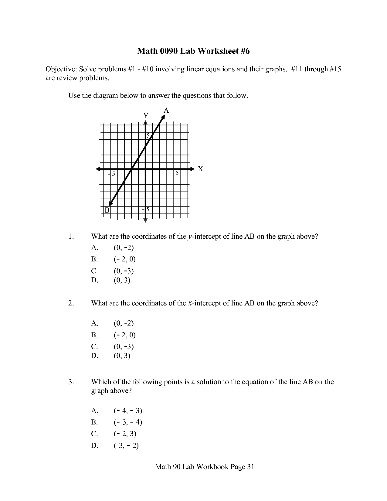 17 Best Images Of Linear Function Word Problems Worksheet