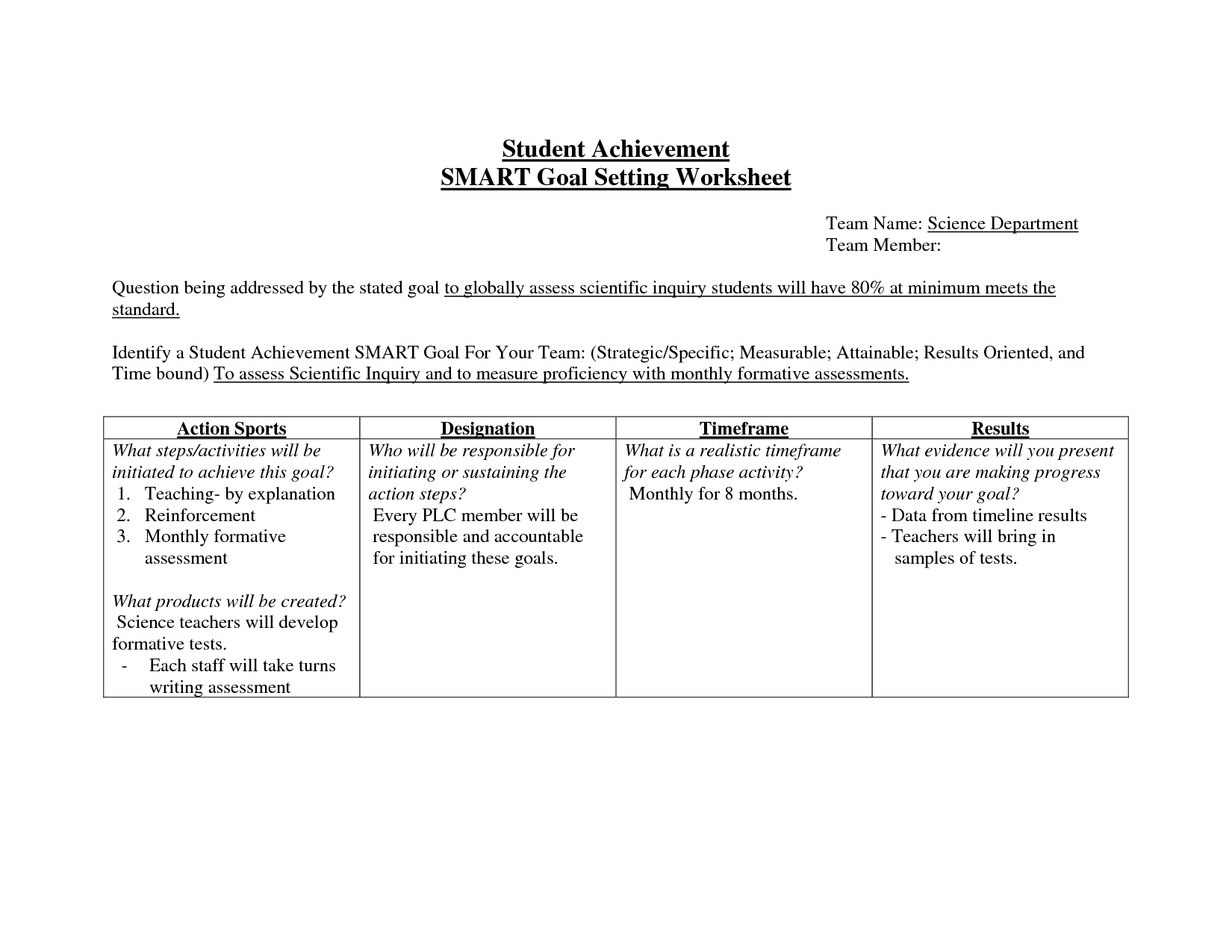 worksheet Wood Badge Ticket Worksheet 48 smart goals templates examples amp worksheets template lab goal sheet 10 free pdf