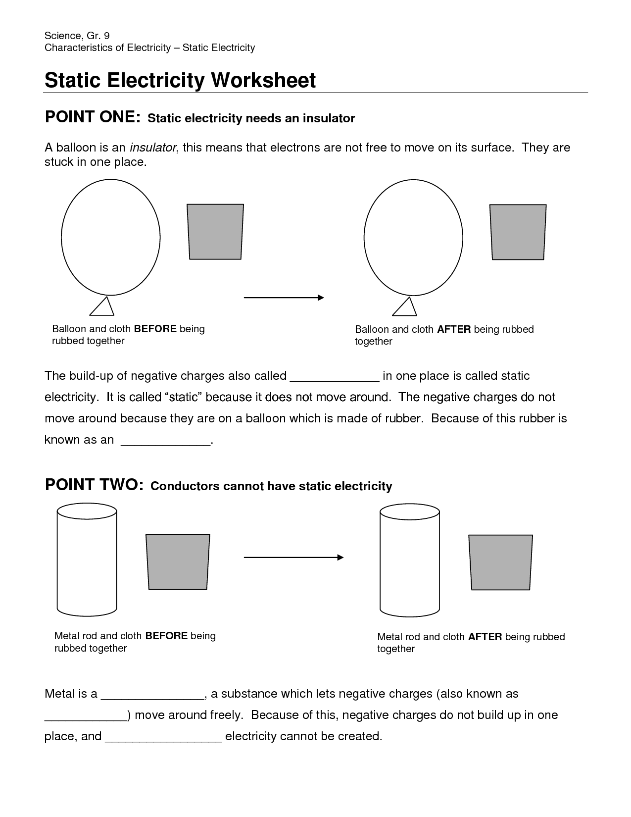 27 Static Electricity Worksheet Answers