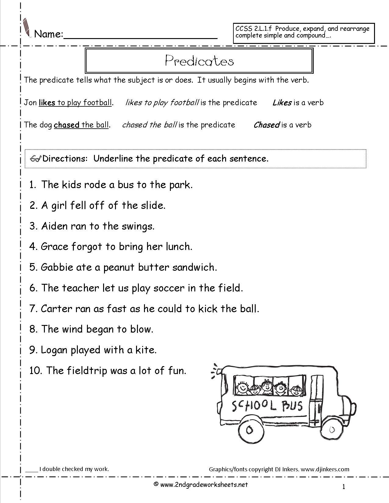 14 Best Images Of Sentence Worksheets For 3rd Grade
