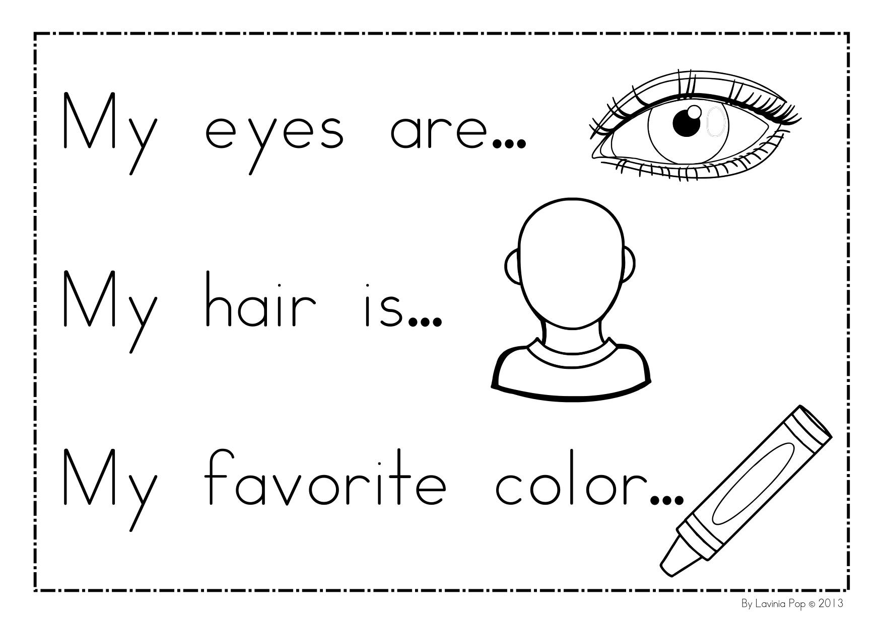 12 Best Images Of Who Am I Kindergarten Worksheets