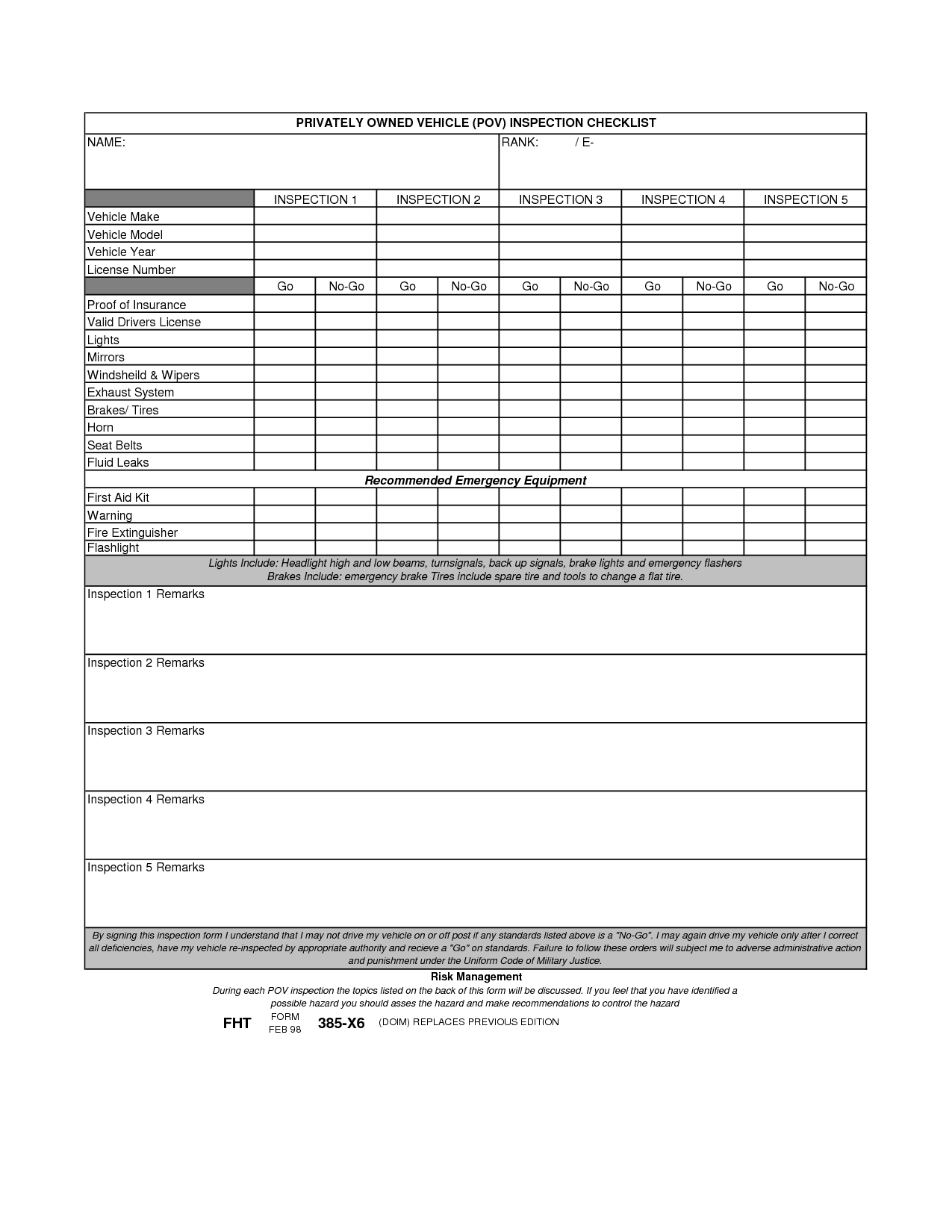 11 Best Images Of Sample Risk Assessment Worksheet