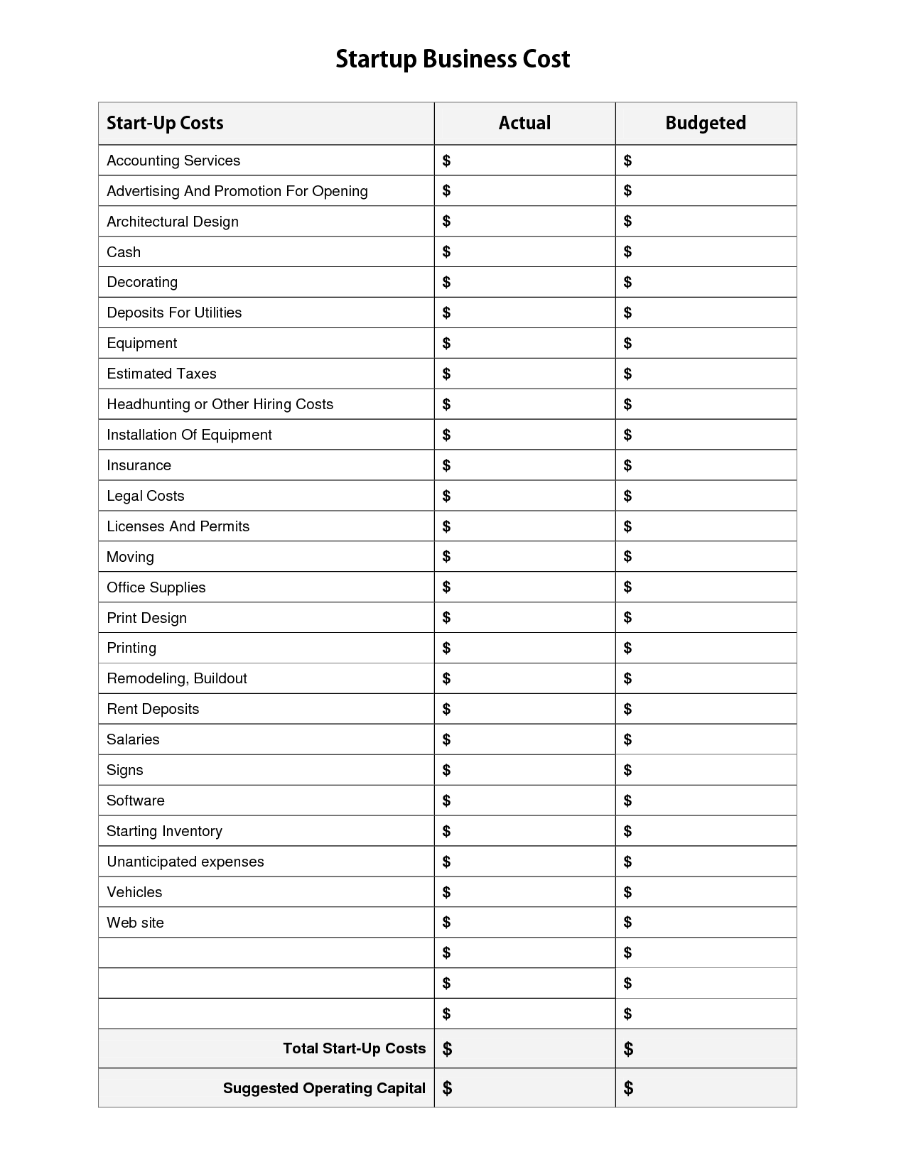 18 Best Images Of Free Printable Business Worksheets