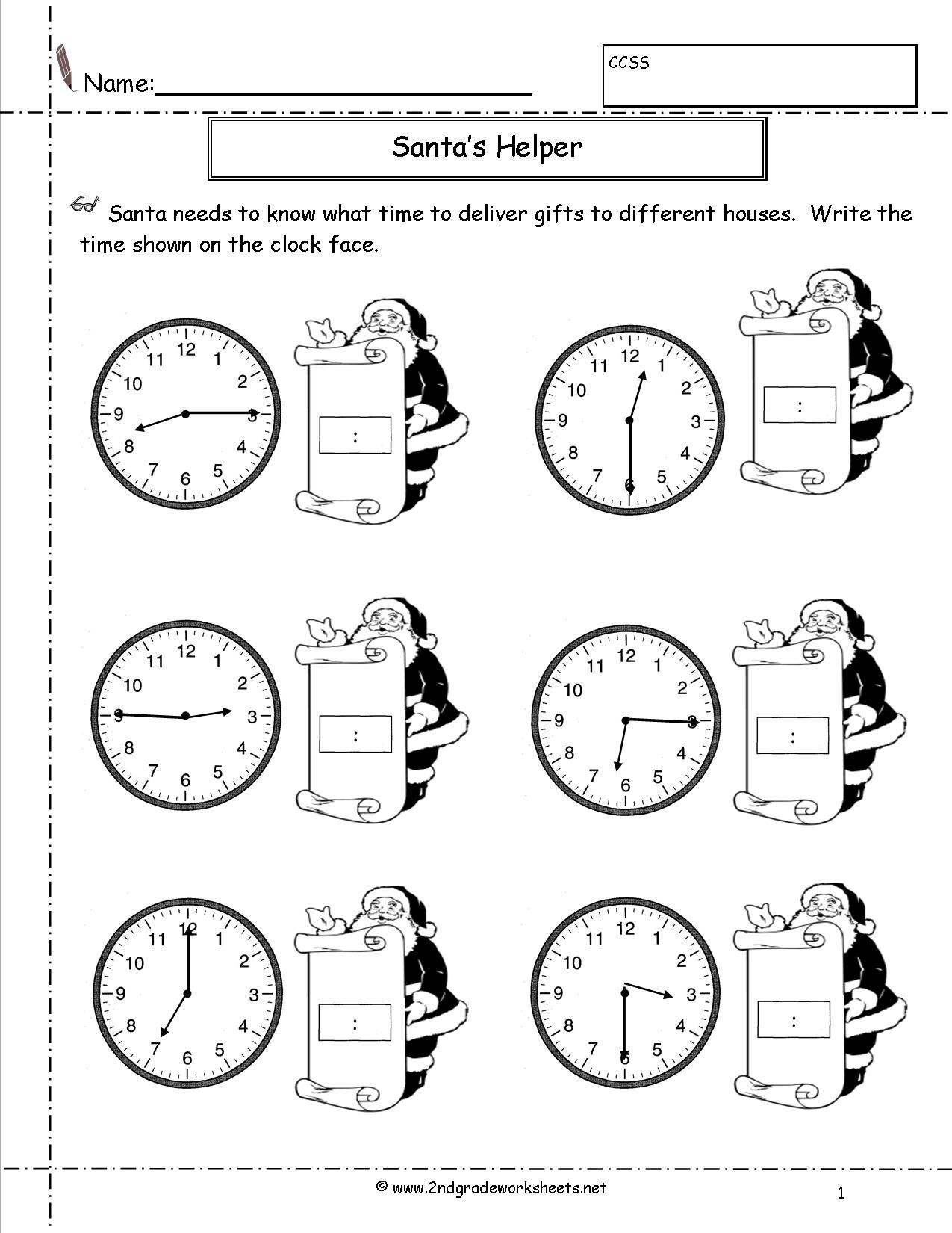 14 Best Images Of Telling Time Worksheets Grade 2