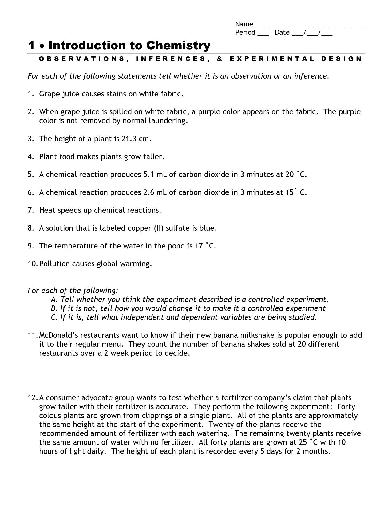 Micrometer Worksheet