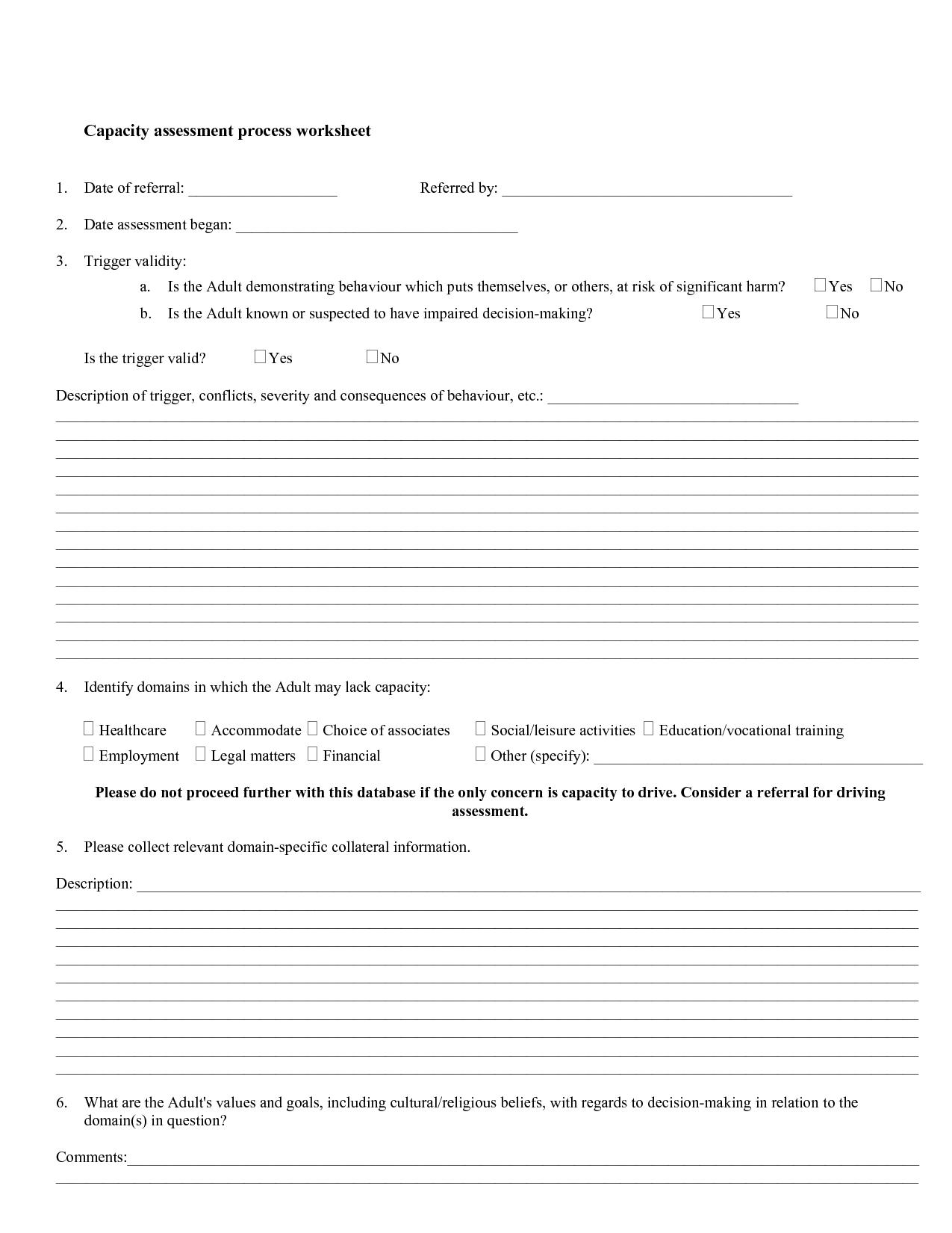 31 Decision Making Process Worksheet