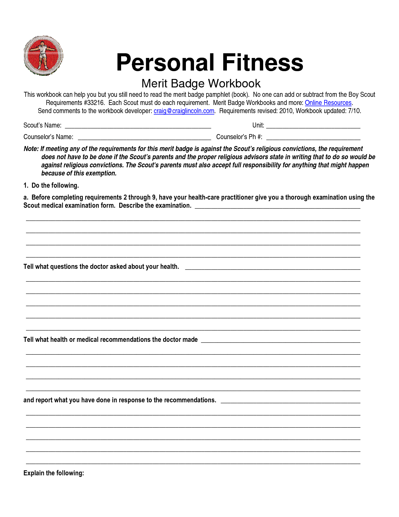 10 Best Images Of Family Life Merit Badge Worksheet