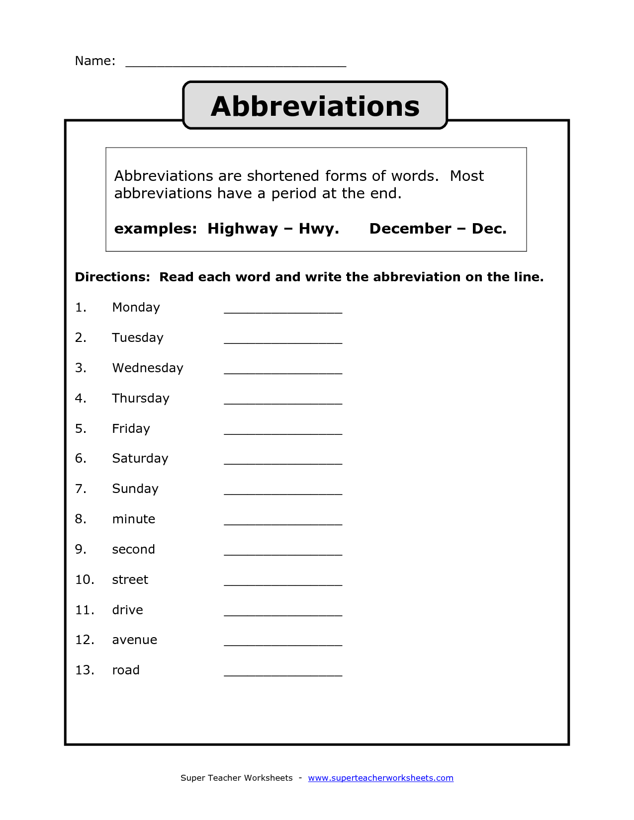 Pennsylvania State Worksheet 4th Grade