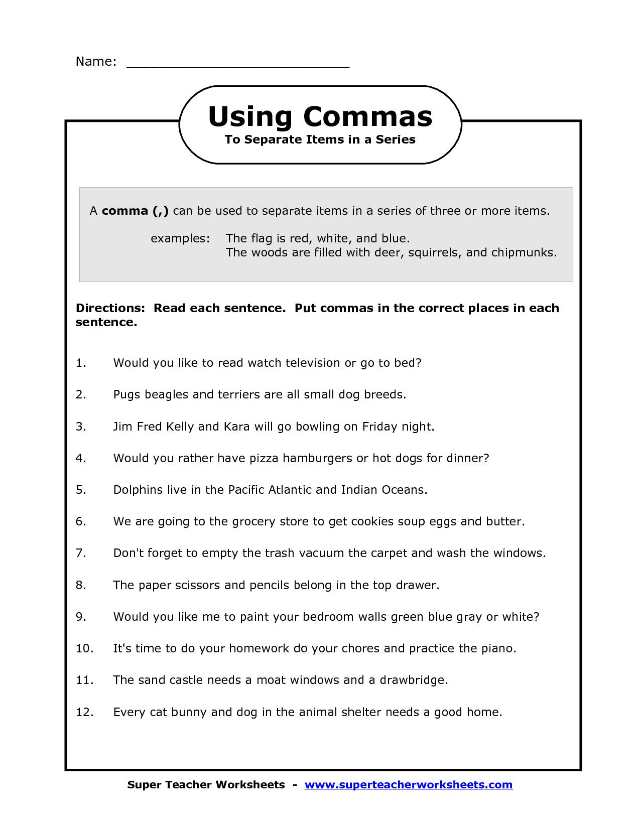 Sentence Editing Worksheet 2nd Grade