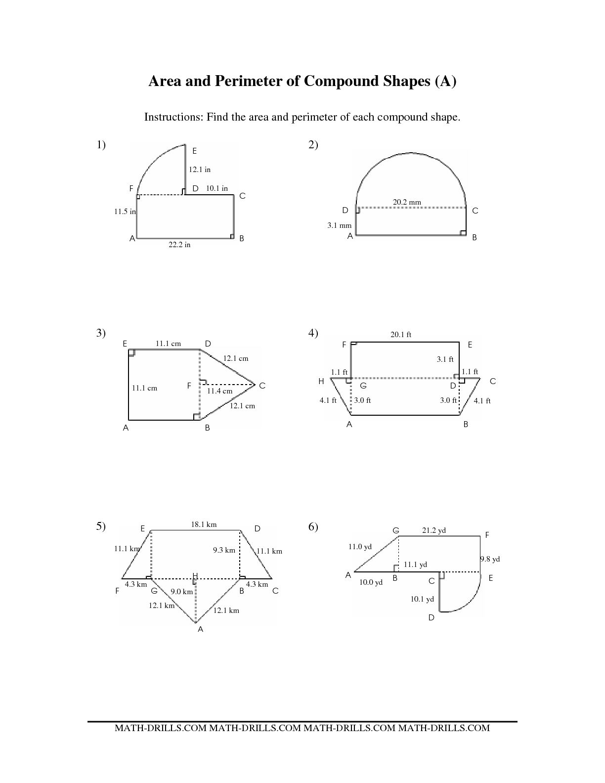9 Best Images Of Area Of Composite Figures Worksheets