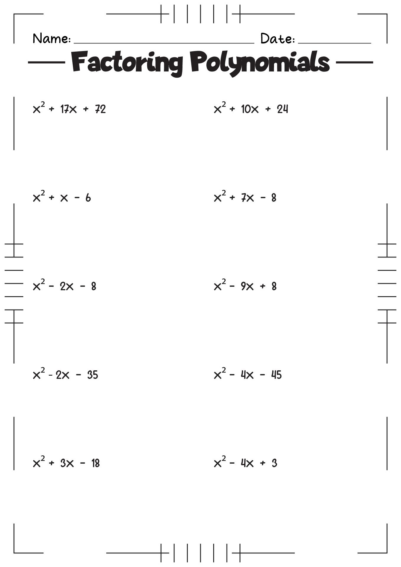 32 Algebra 1 Multiplying Polynomials Worksheet