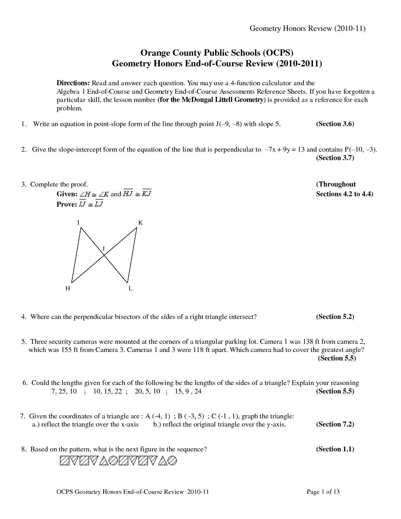 19 Best Images Of Holt Geometry Worksheet Answers
