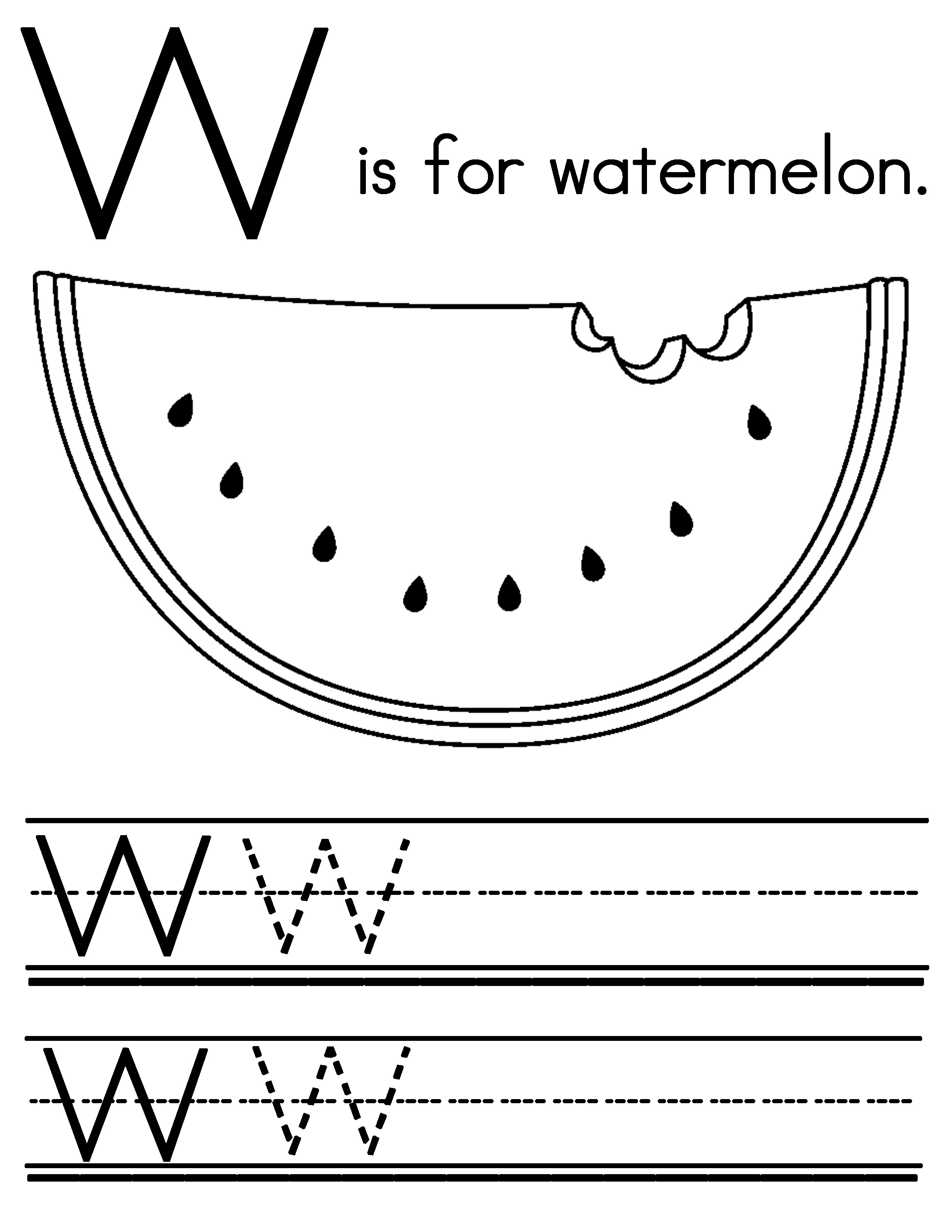 14 Best Images Of W Handwriting Worksheets