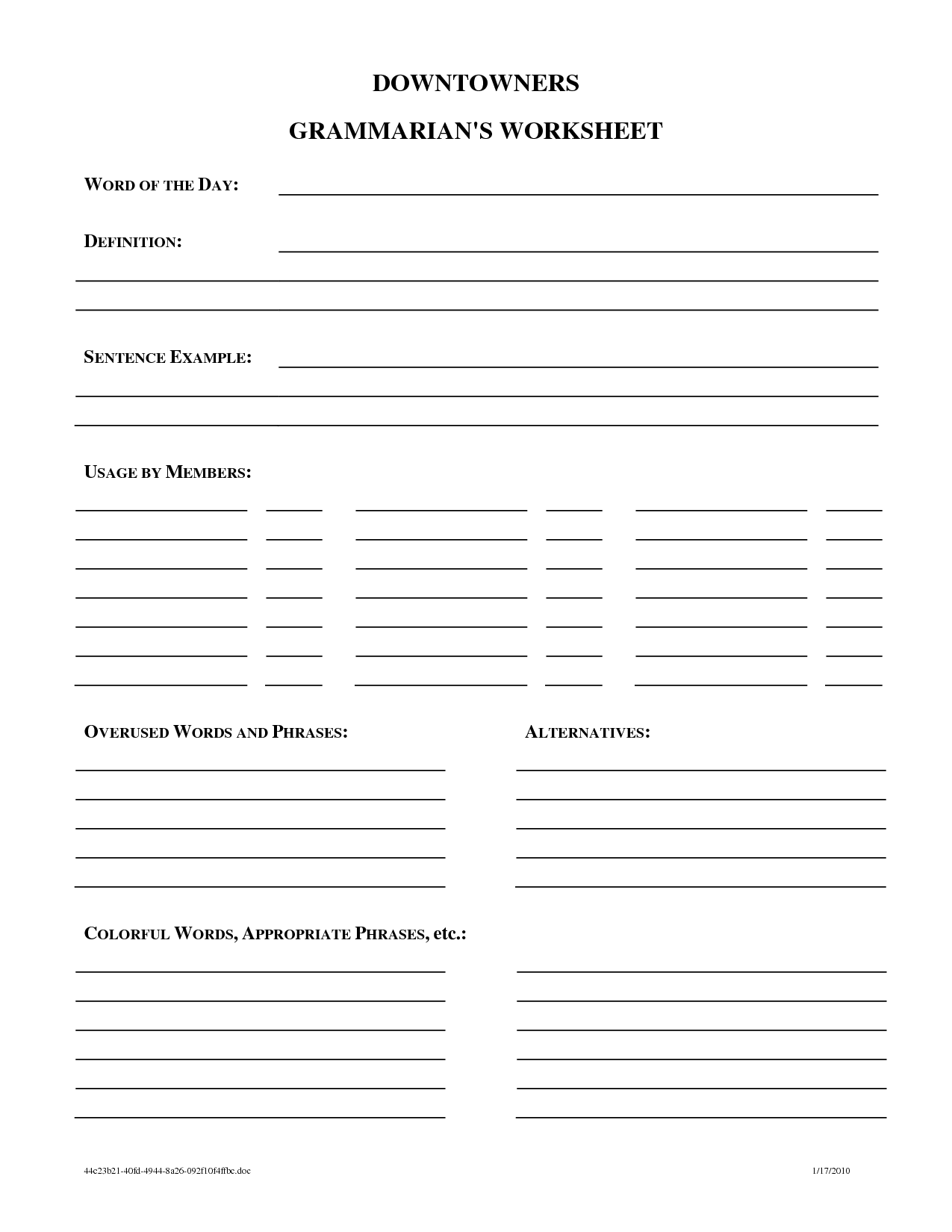15 Best Images Of Word Definition Worksheets