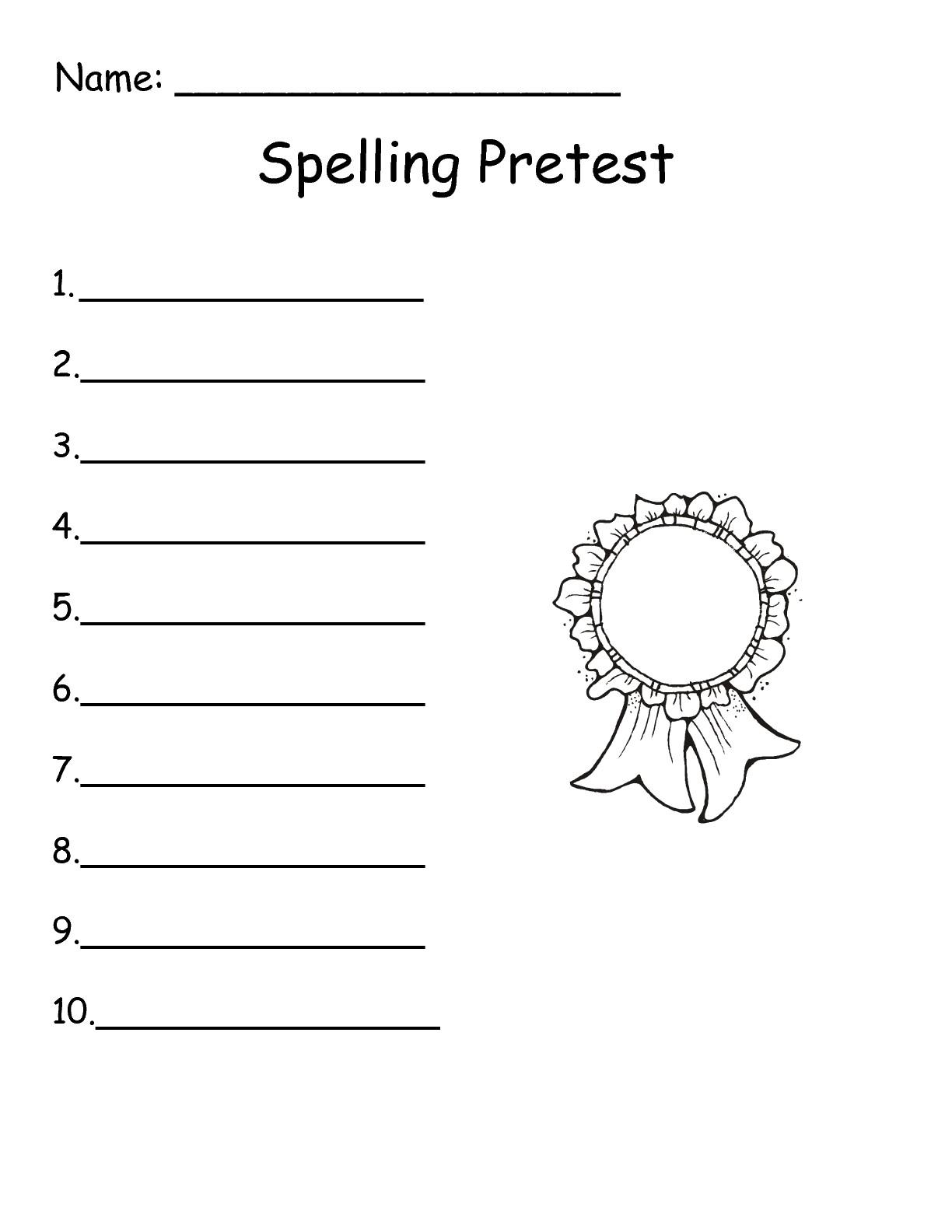 16 Best Images Of Free Spelling Test Worksheet