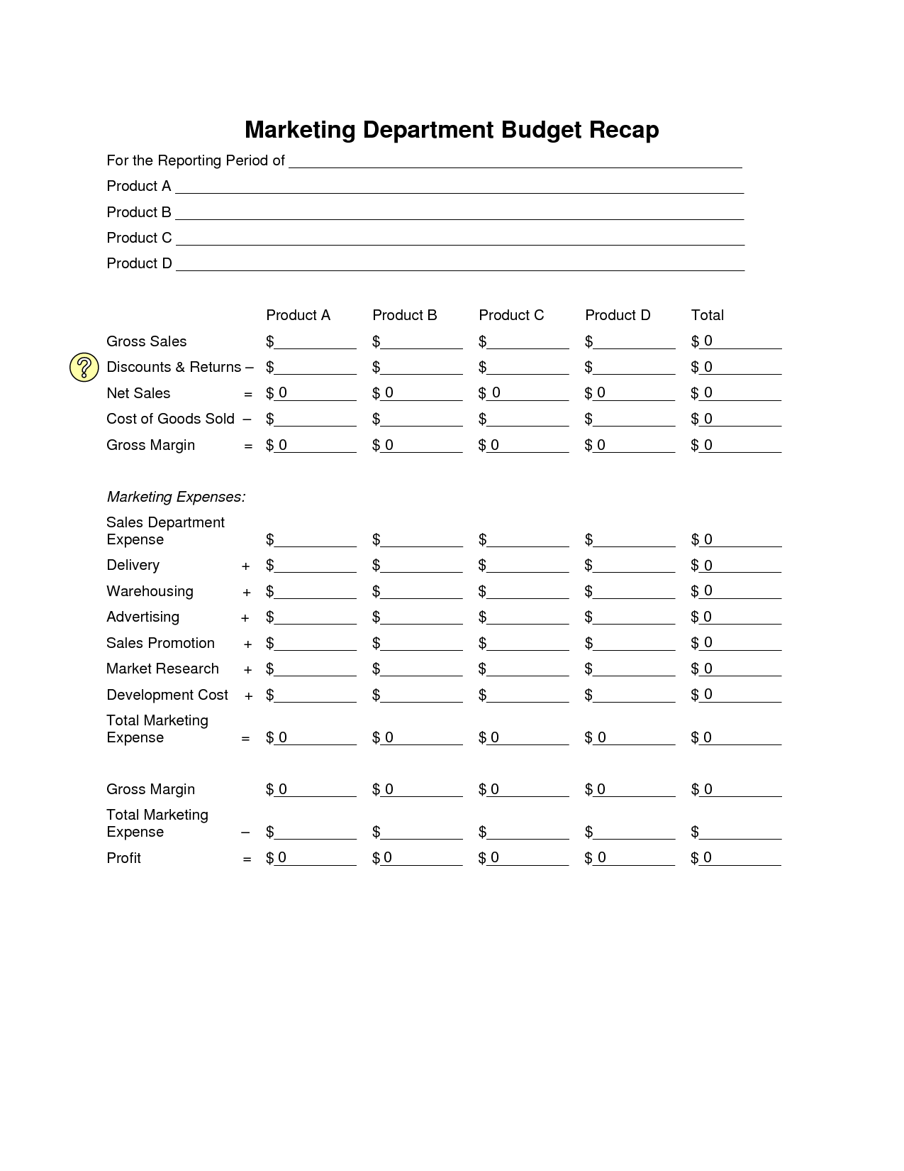 Budget Worksheet Template For College Student