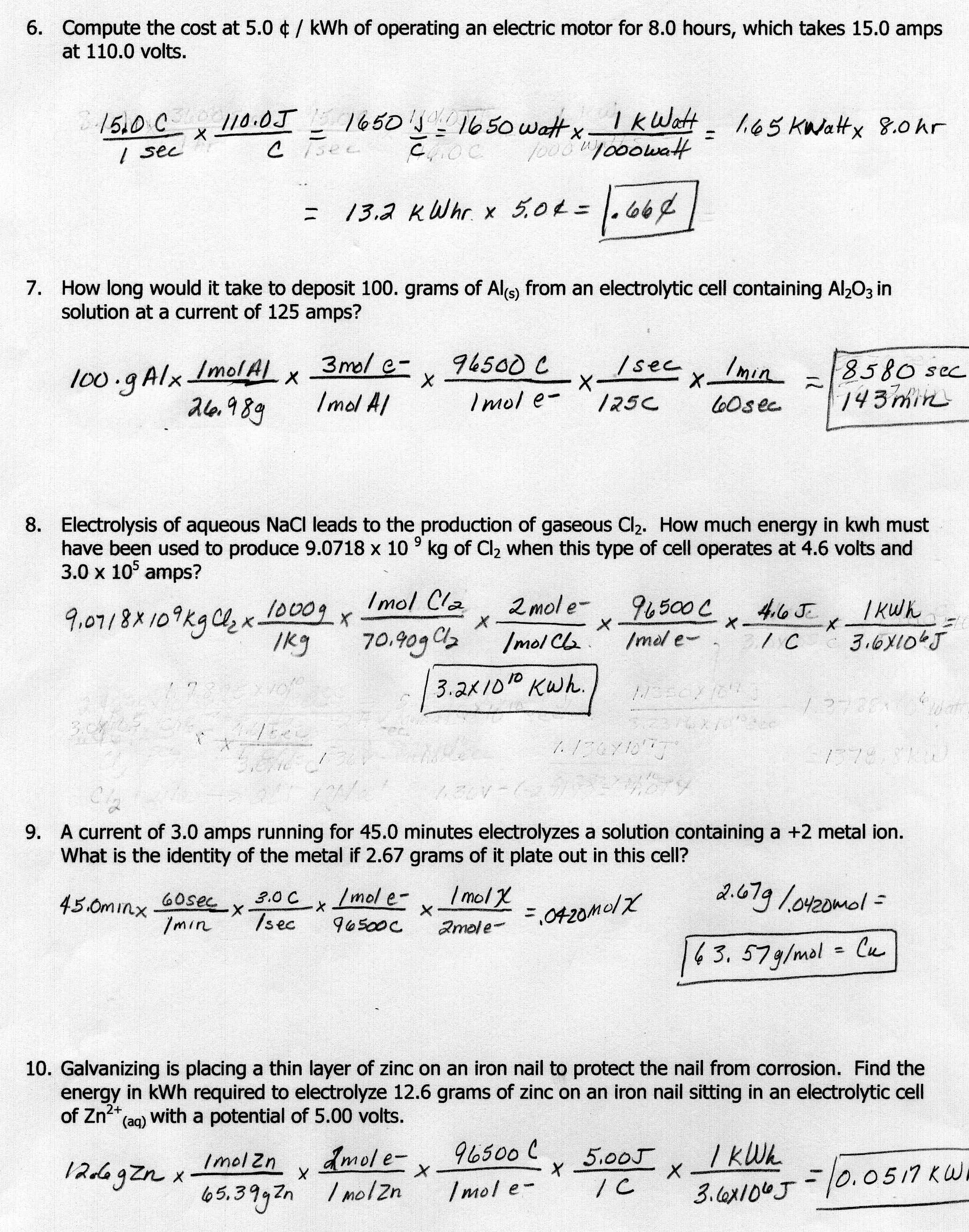 10 Best Images Of Physics Worksheets With Answer Key