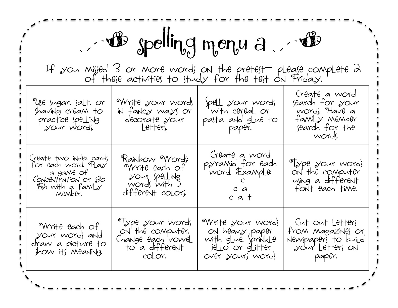 14 Best Images Of Create Fun Spelling Worksheets