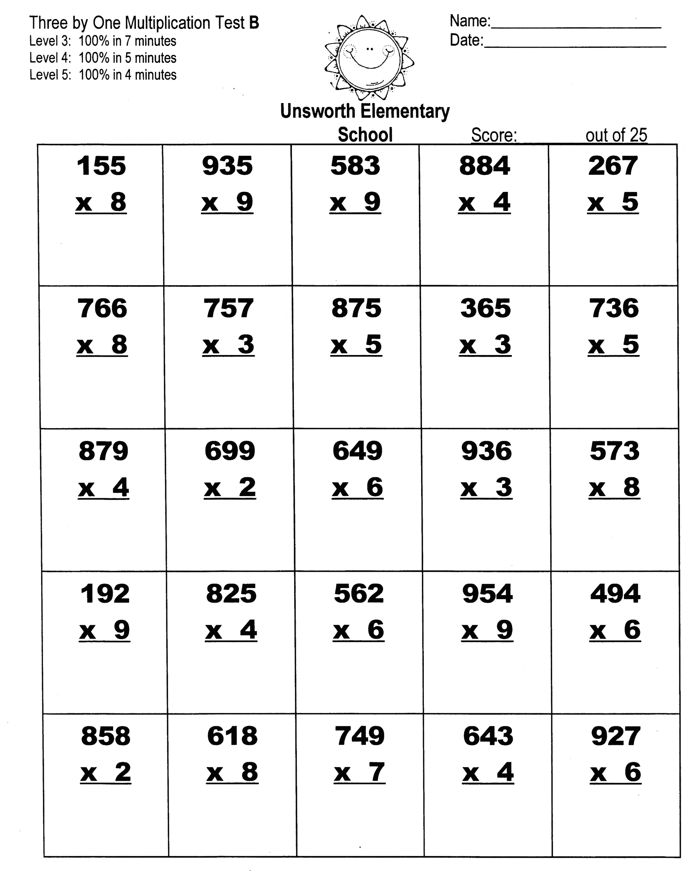 11 Best Images Of Three Digit Multiplication Worksheets