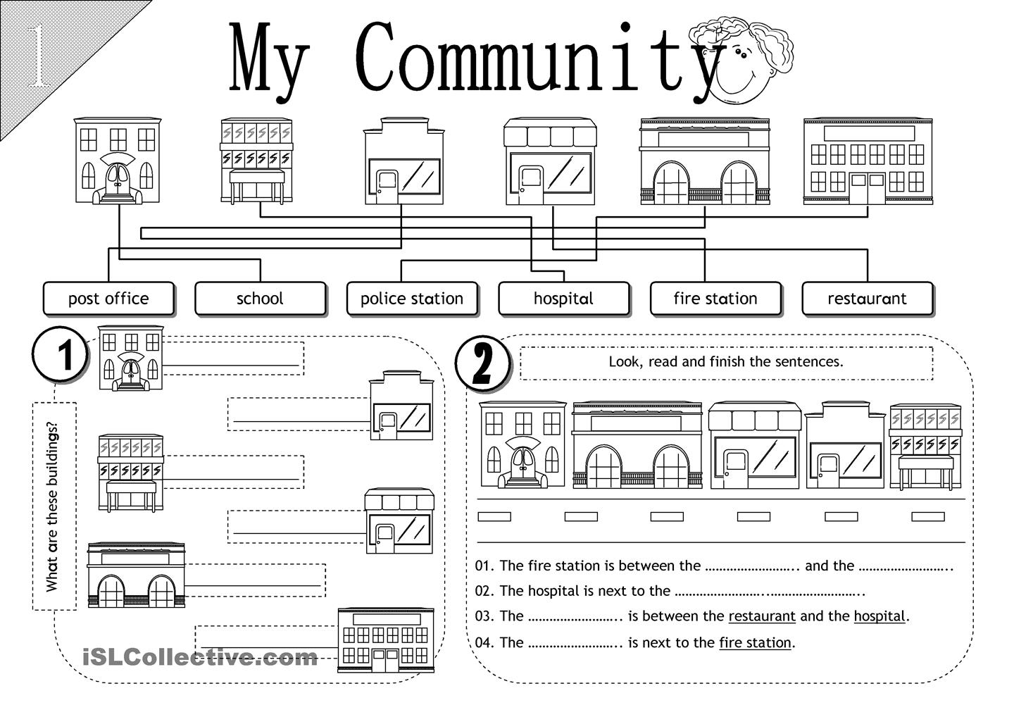 14 Best Images Of My Community Worksheets Printable