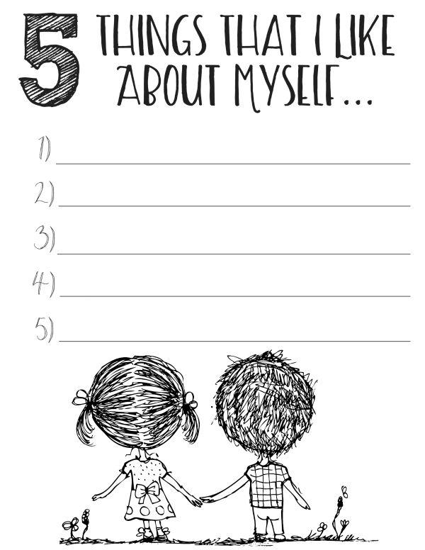 Improving Self Esteem Worksheets