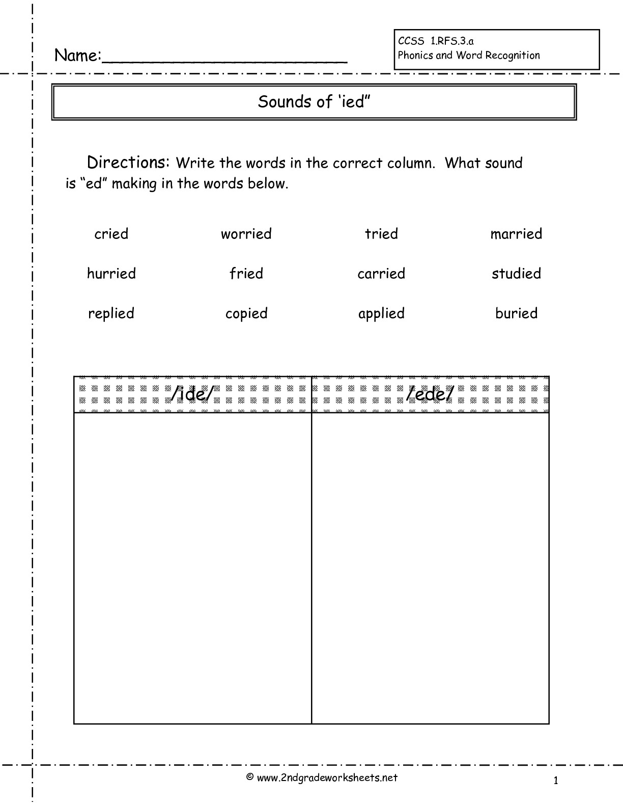 14 Best Images Of Vowel Sound Worksheet Second Grade