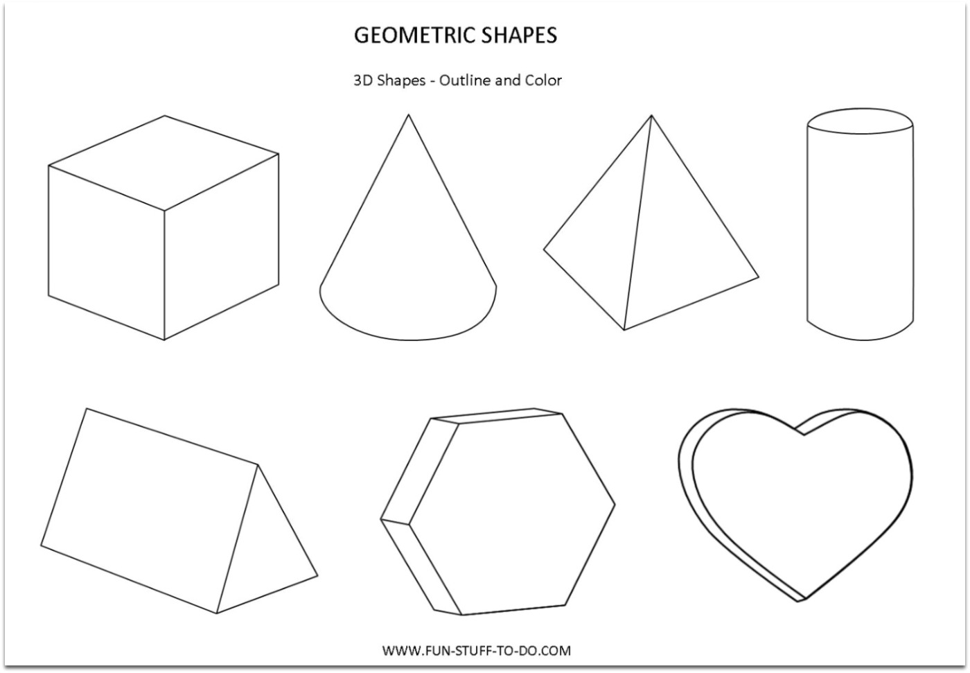 12 Best Images Of 2 And 3 Dimensional Figures Worksheets