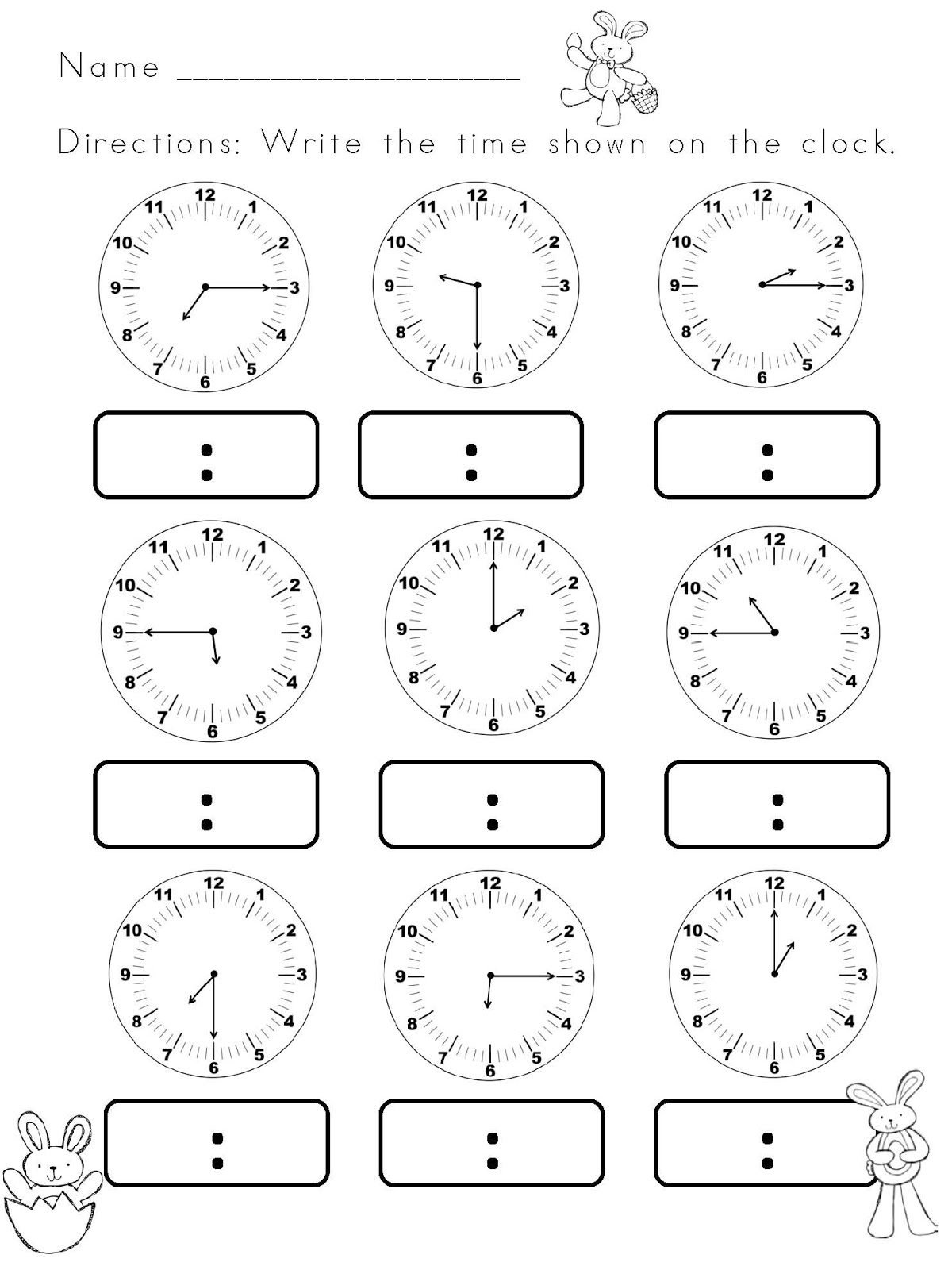 14 Best Images Of Digital Clock Worksheets First Grade
