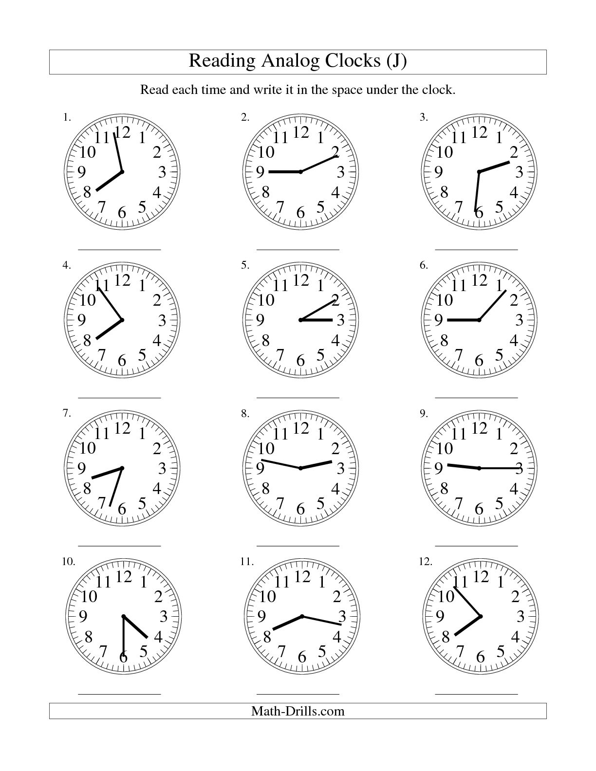 15 Best Images Of Telling Time Worksheets By 5 Minutes