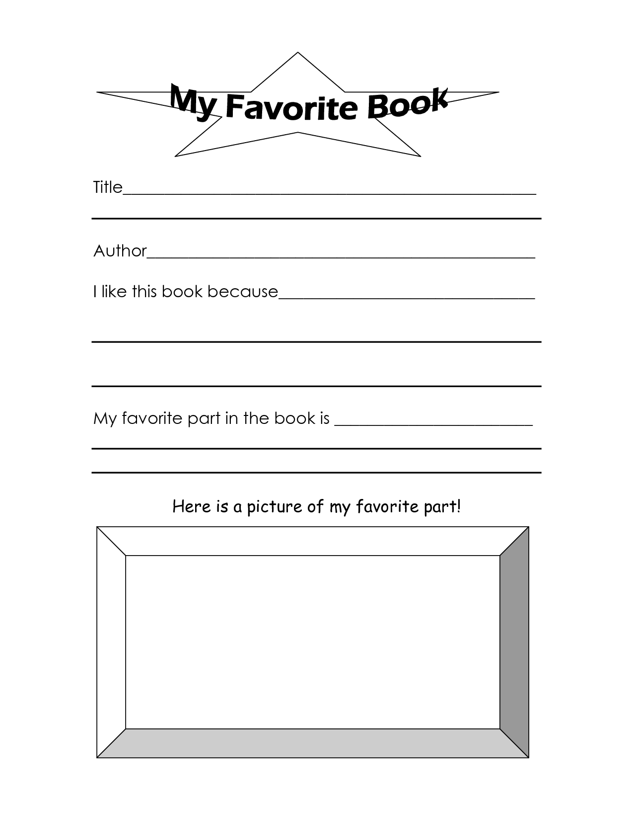 17 Best Images Of My Favorite Memory Worksheet