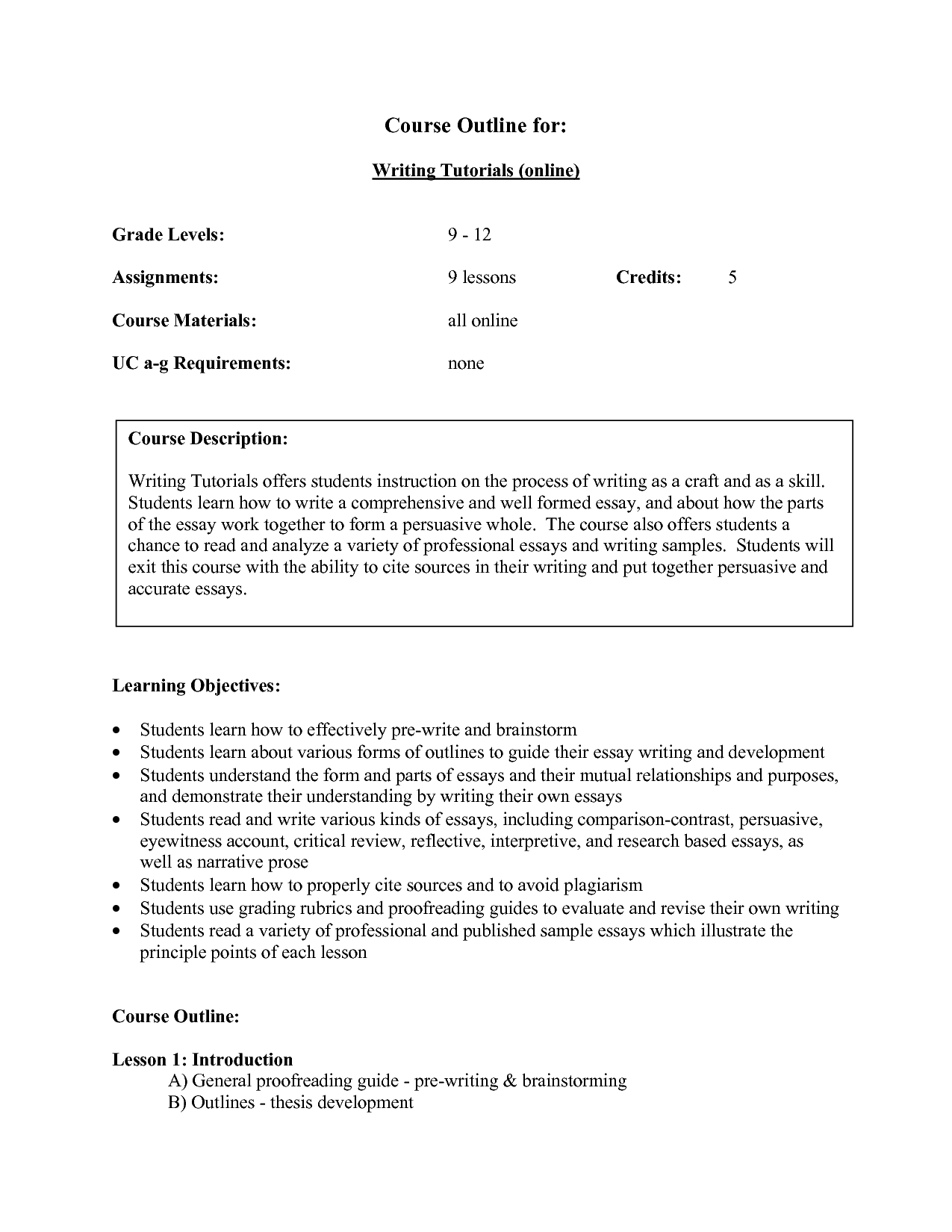 16 Best Images Of Descriptive Essay Outline Worksheet