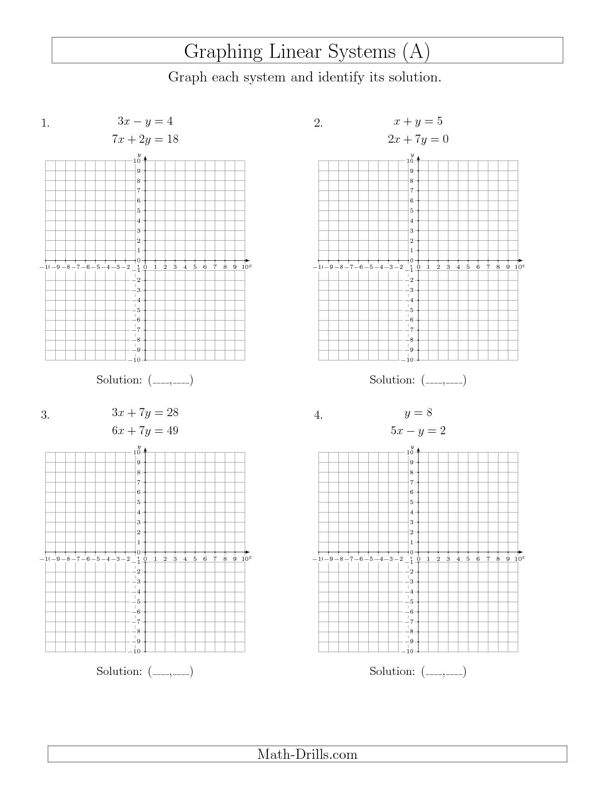 11 Best Images Of Solving Systems Of Equations By Graphing