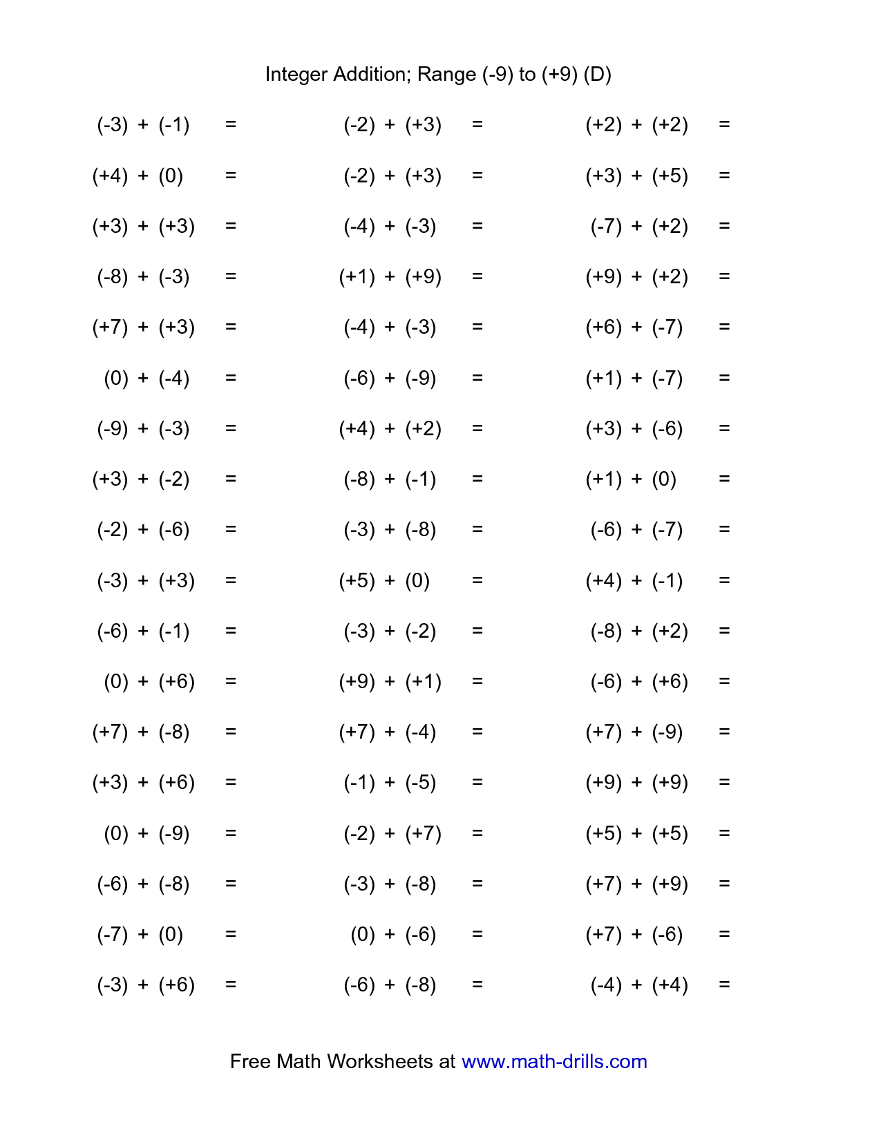 12 Best Images Of Math Drills Multiplication Worksheets 9