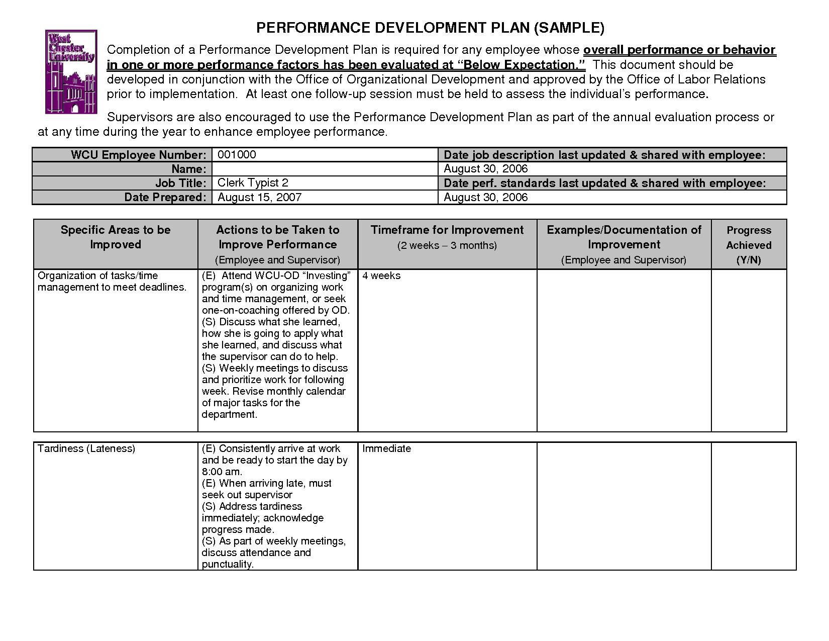 Preschool Professional Development Worksheet
