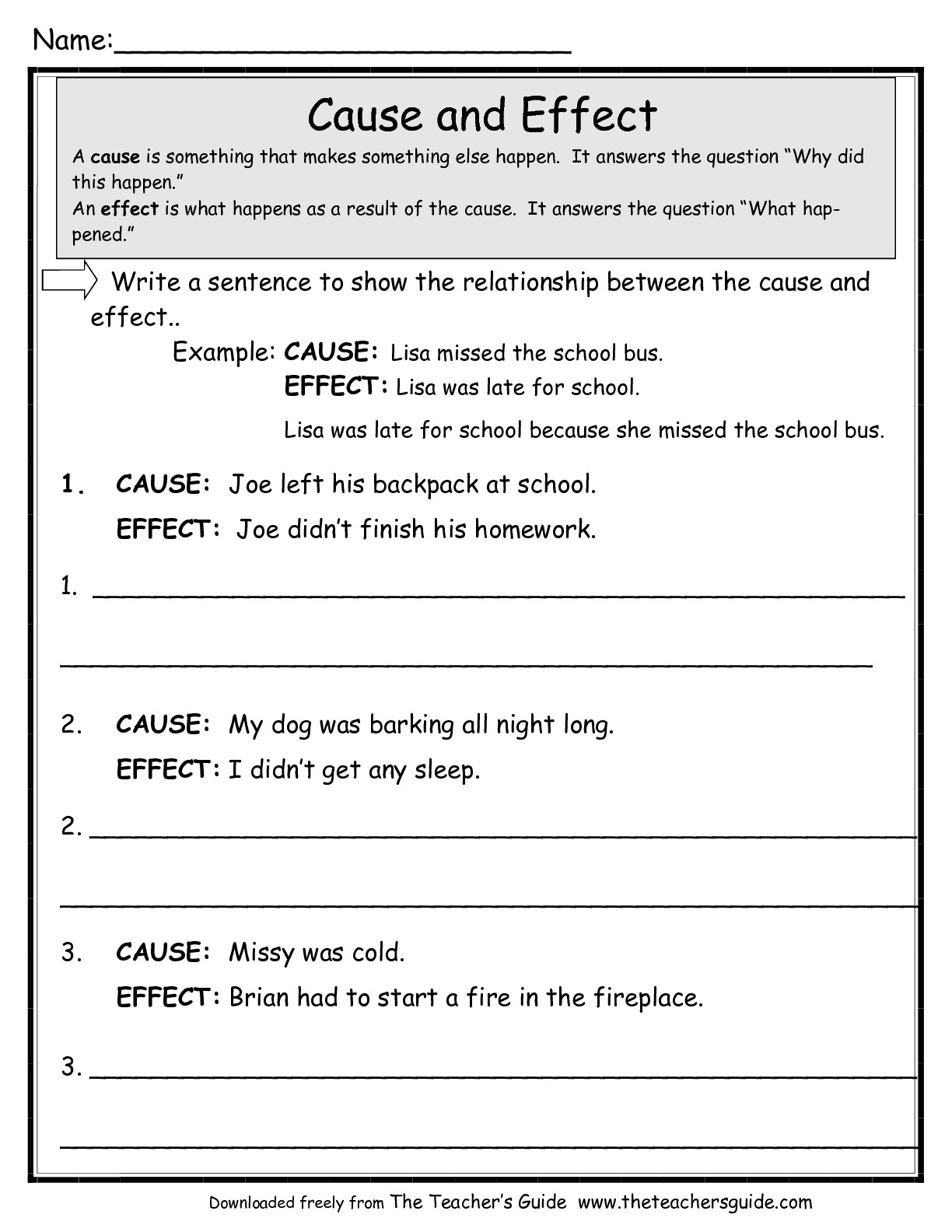 15 Best Images Of Cause Effect Reading Comprehension Worksheets