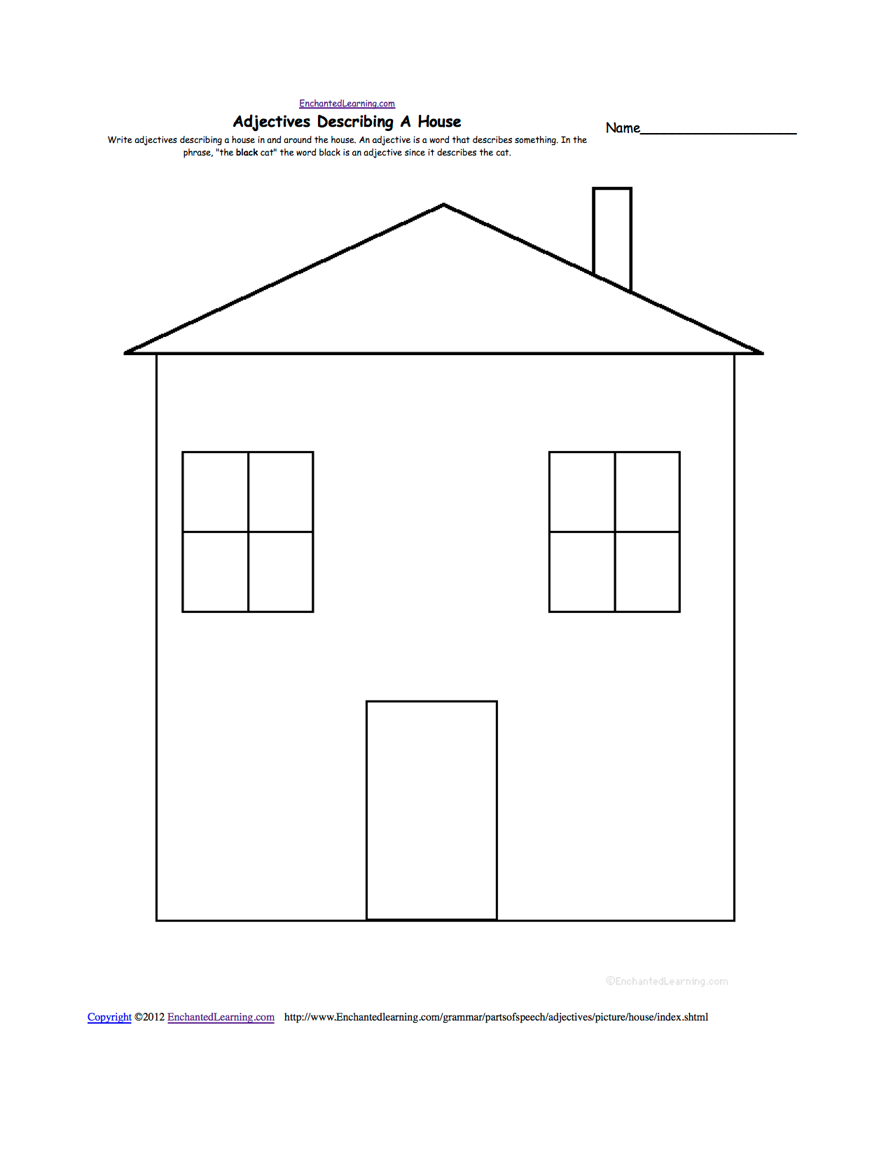 11 Best Images Of Label The House Worksheet