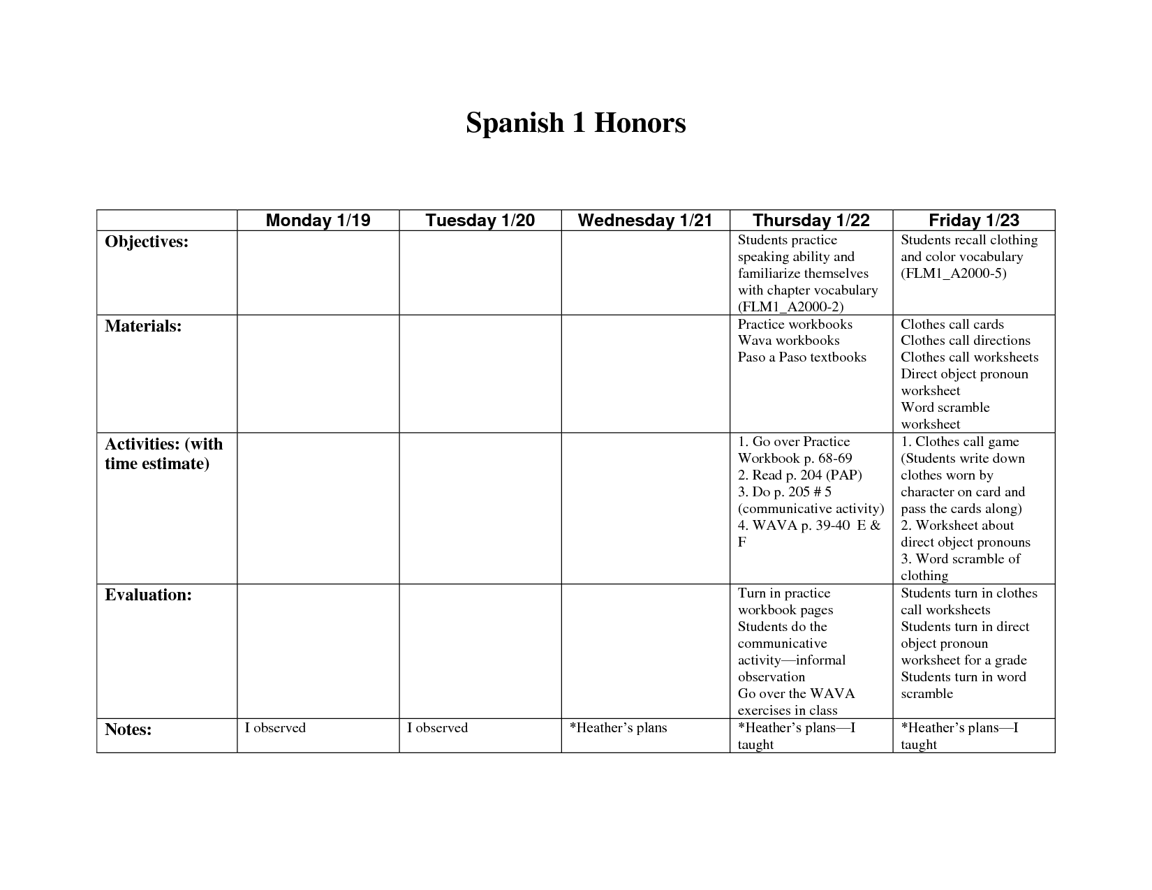 14 Best Images Of Spanish Chores Worksheet