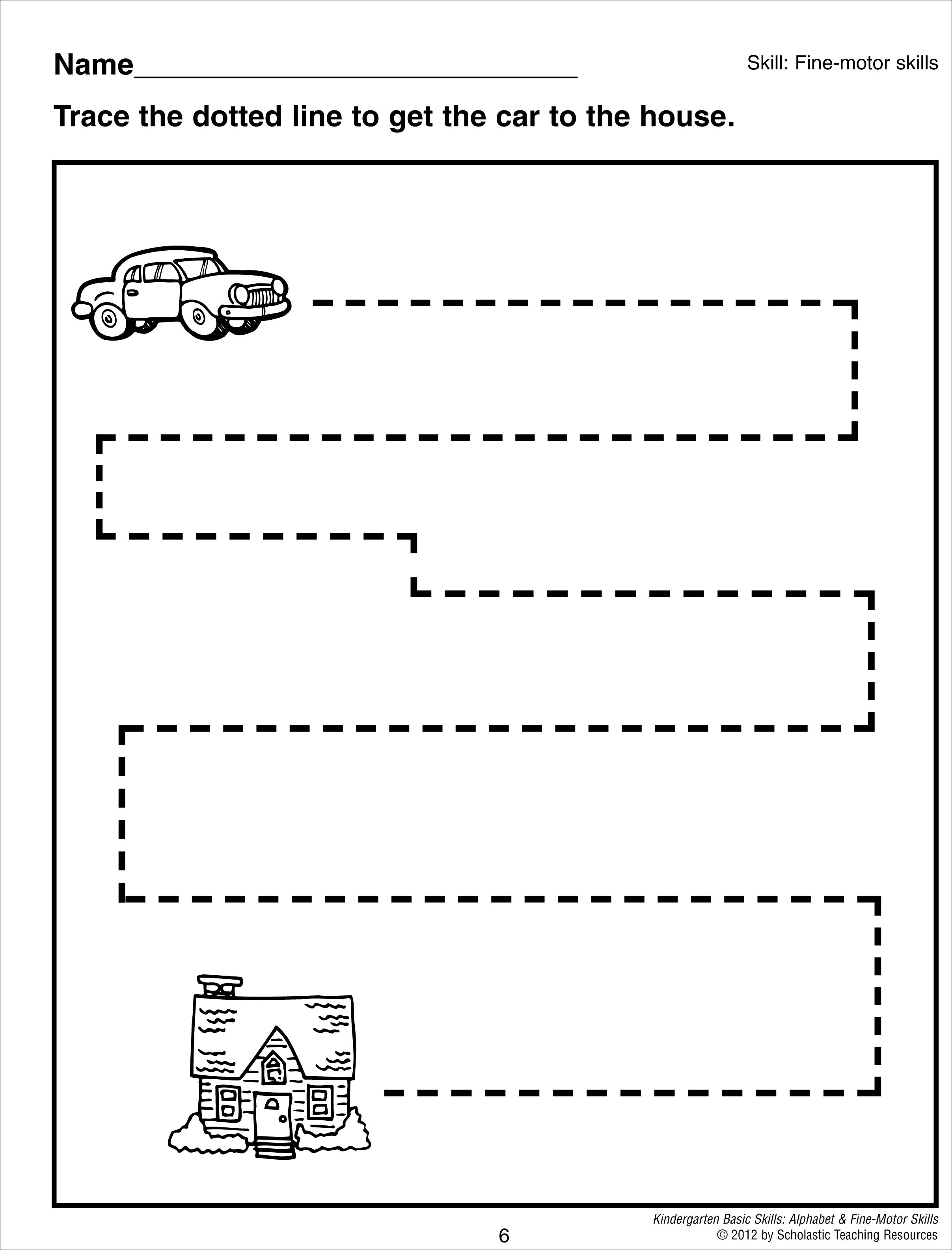 Straigh Lines Worksheet Vertical
