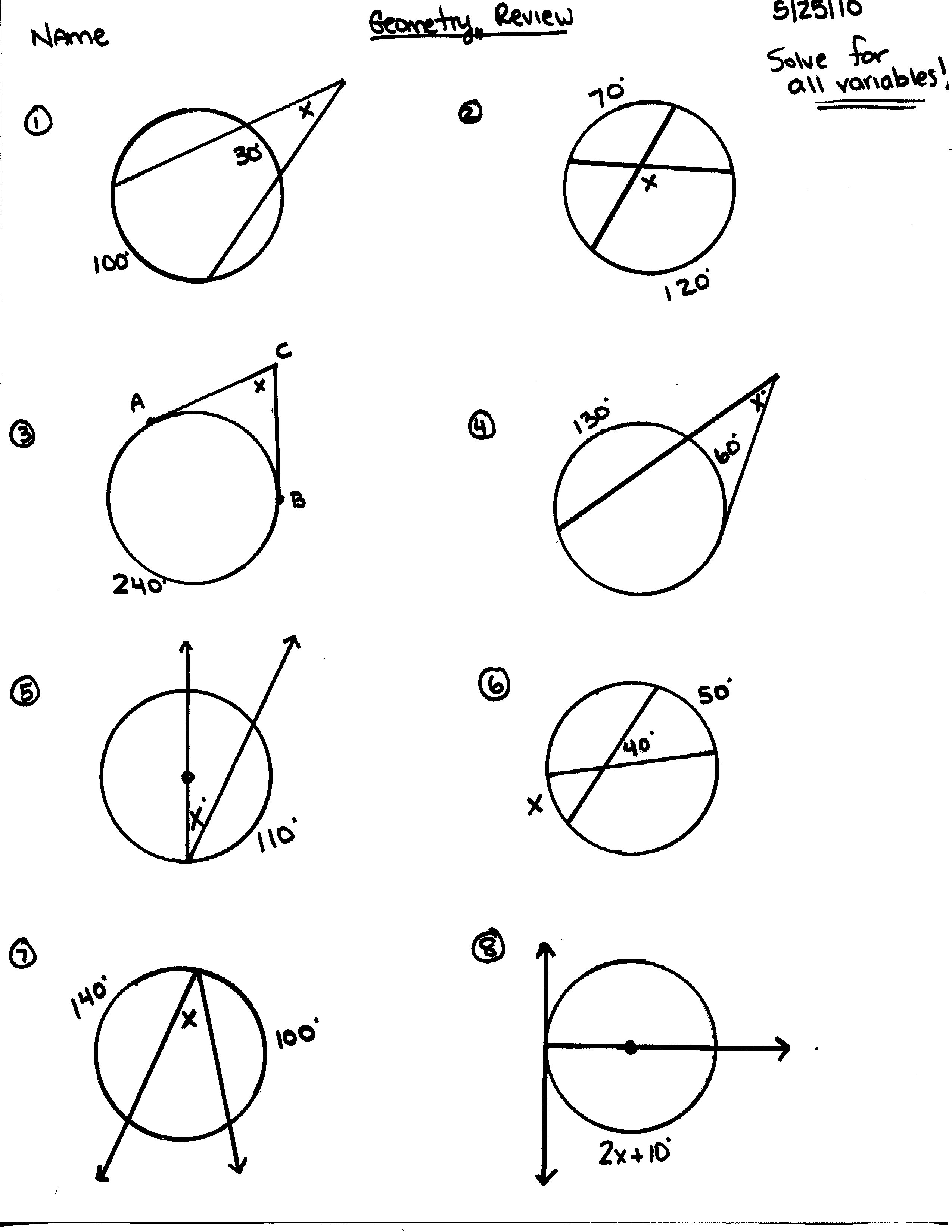 Circumference And Area Of Circles Worksheet