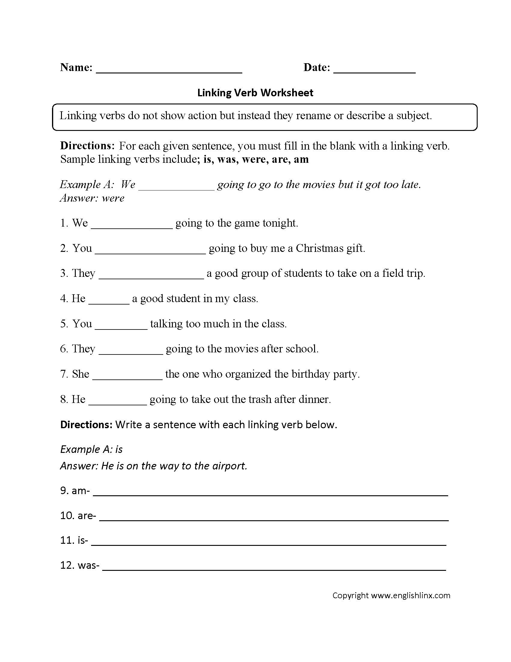 Helping Sentences Worksheet
