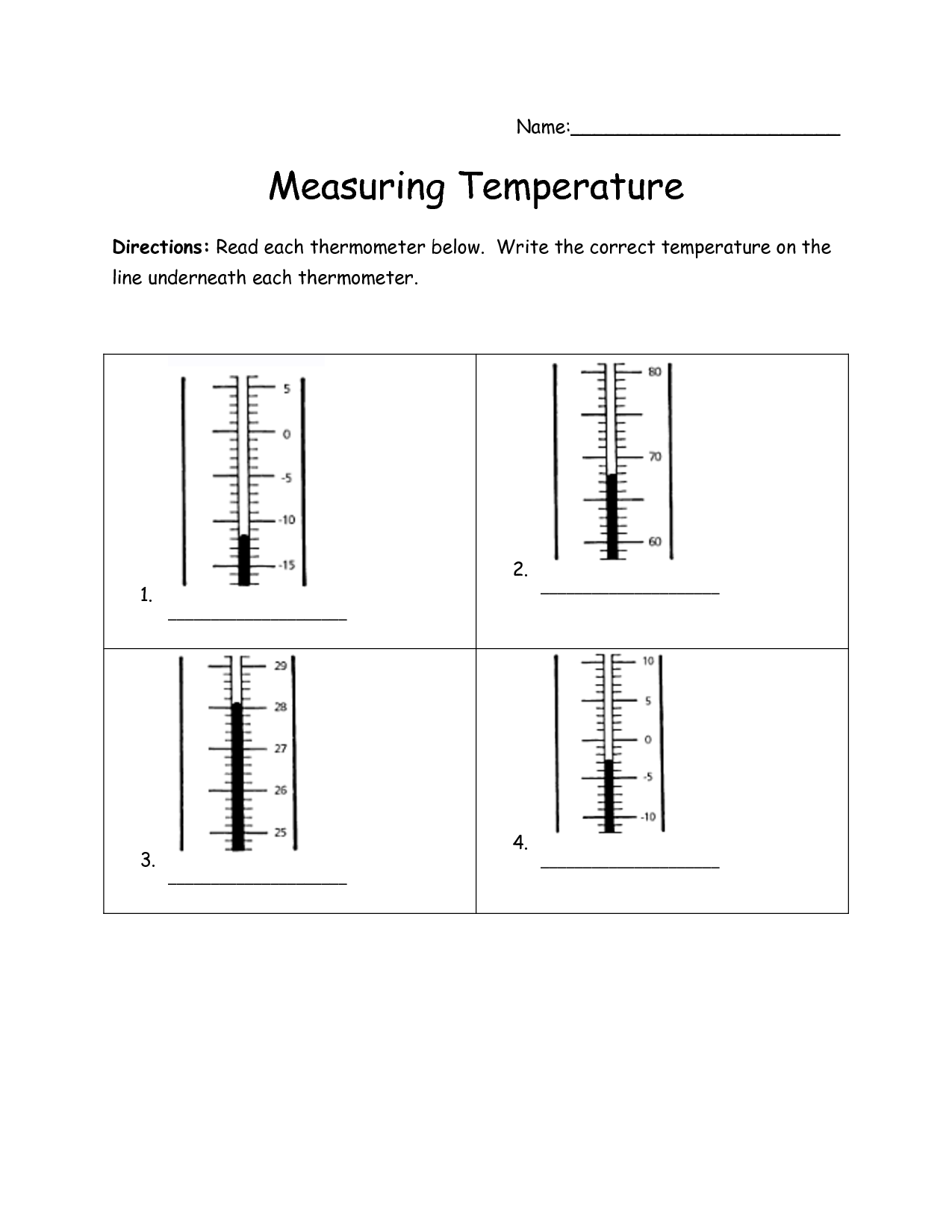 18 Best Images Of Reading Thermometers Worksheets Math