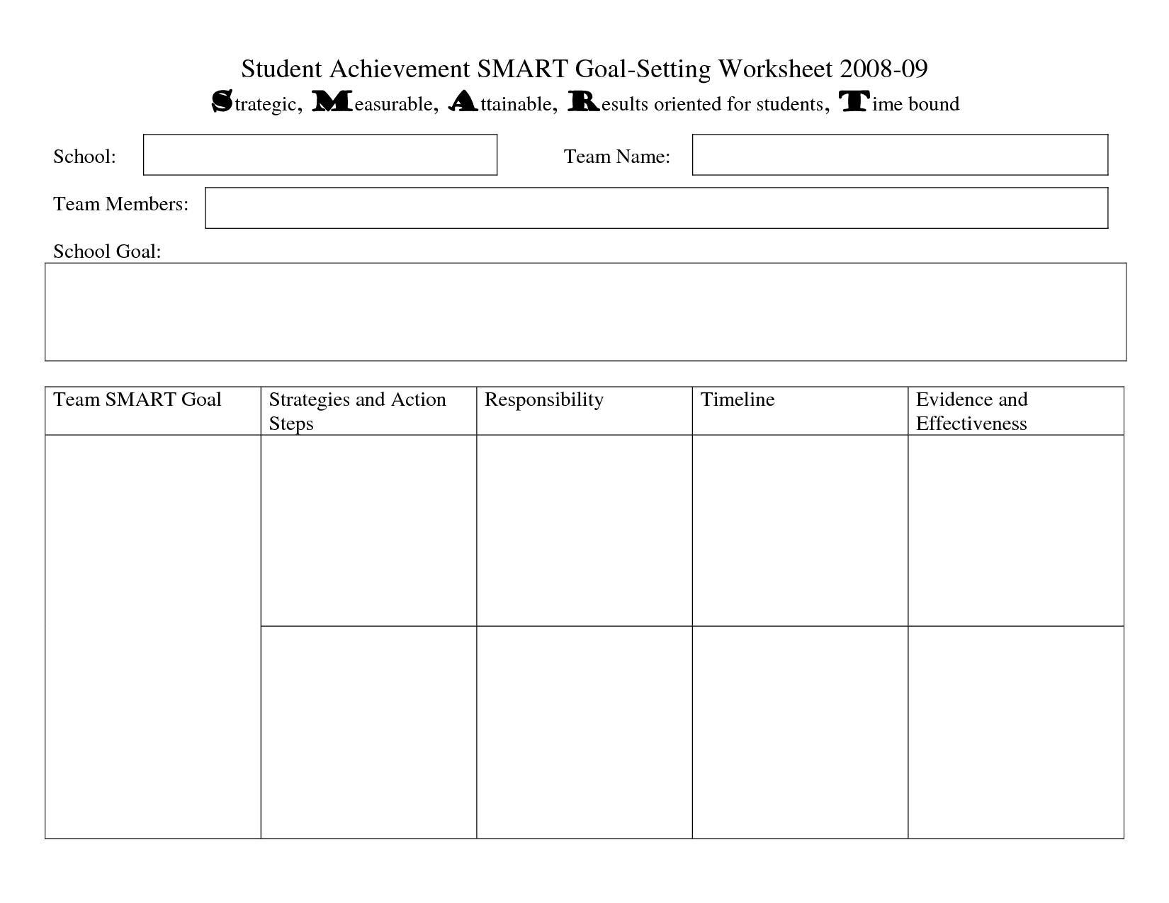 goal setting worksheet middle school Termolak – Student Goal Setting Worksheet