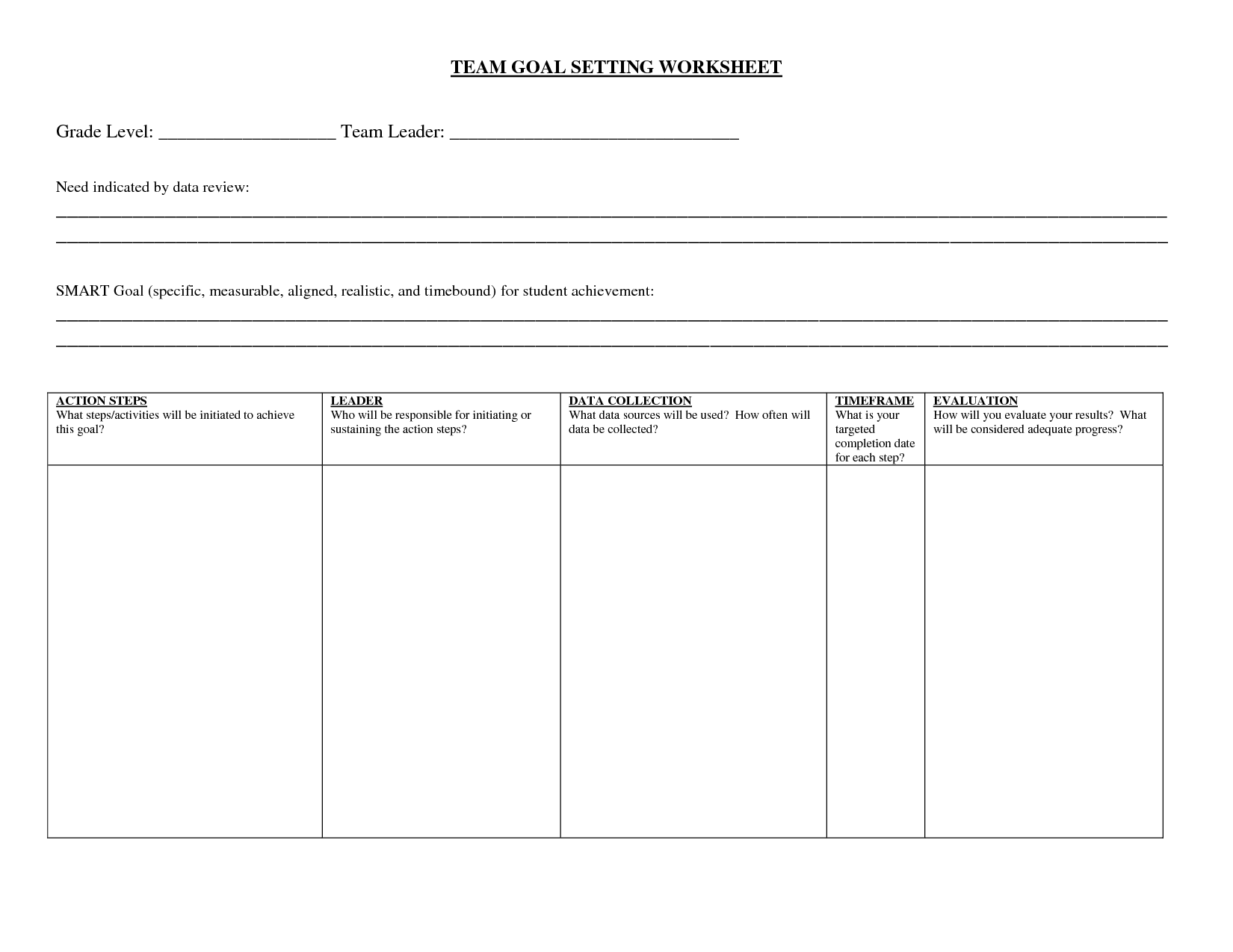 17 Best Images Of Academic Goal Setting Worksheet
