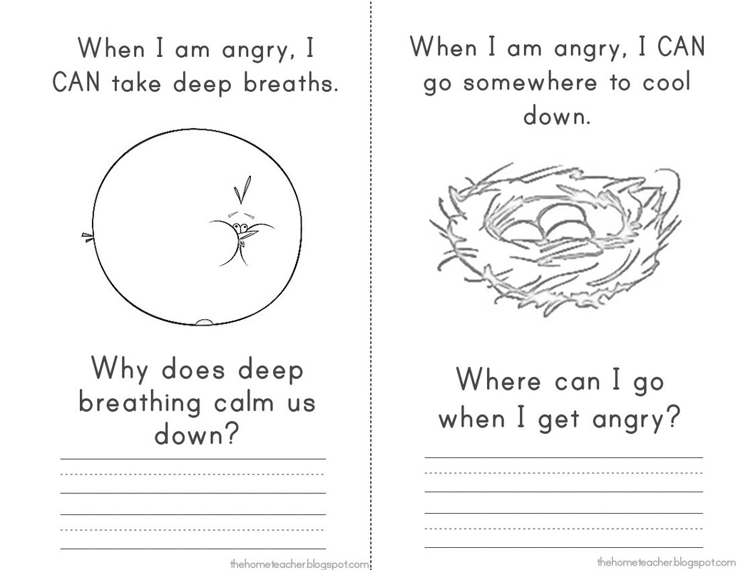 Anger Iceberg Worksheet Printable