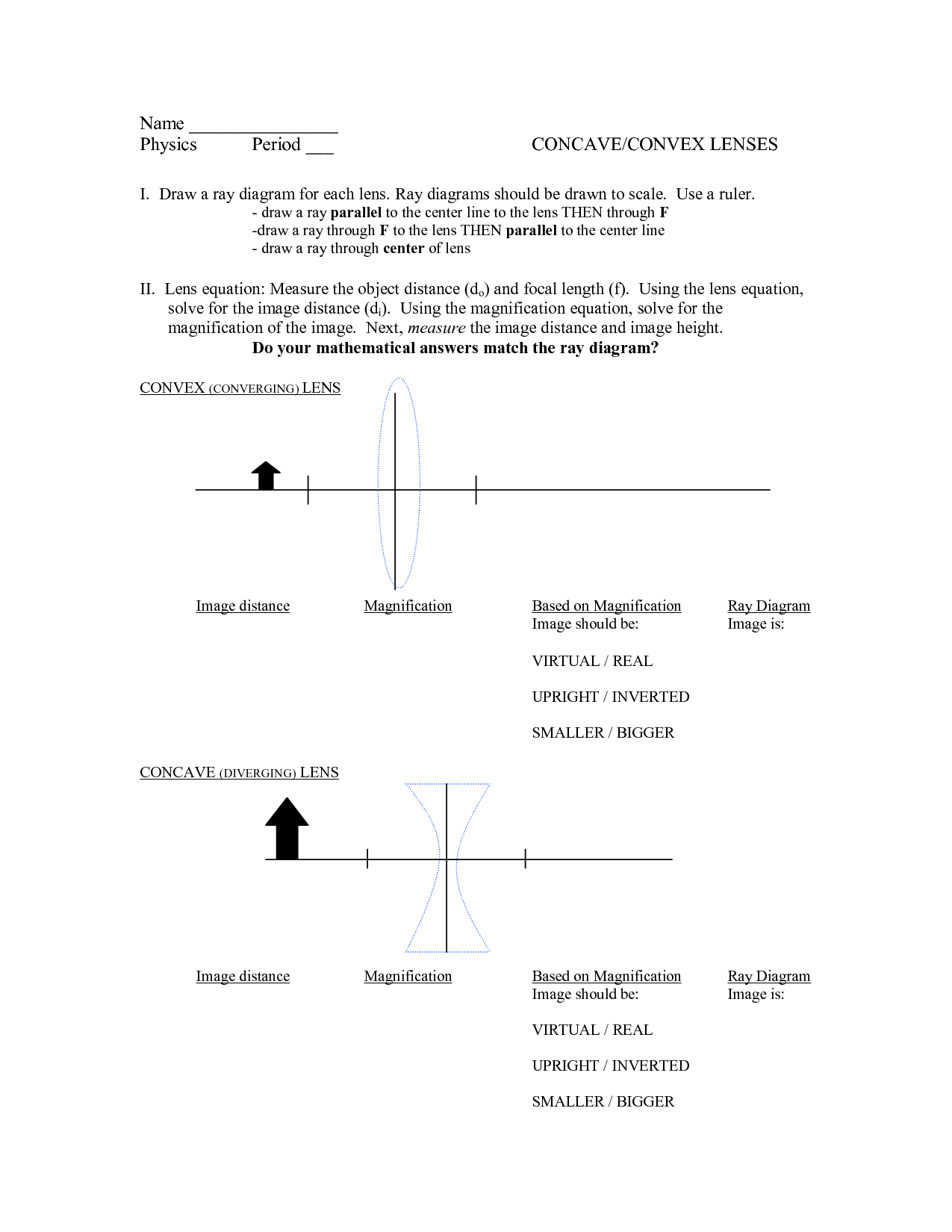 31 Curved Mirror Worksheet Answers