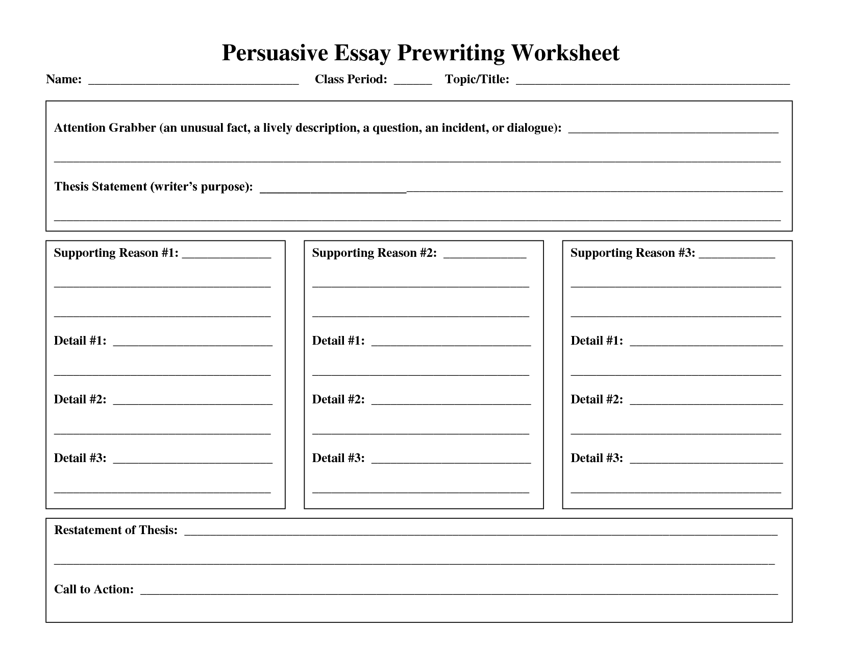 17 Best Images Of Persuasive Writing Worksheets