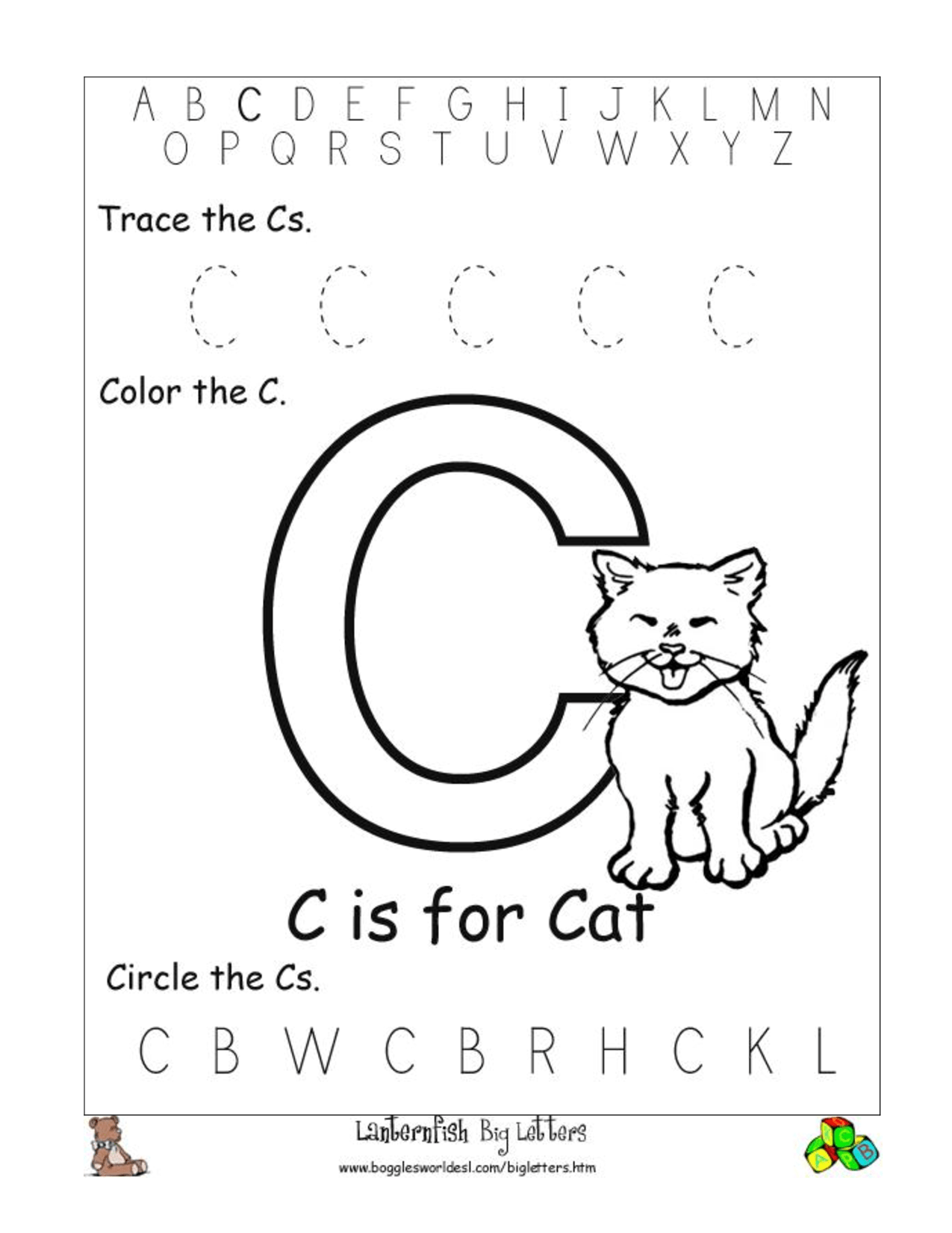 10 Best Images Of Circle The Letter Worksheets For Preschool